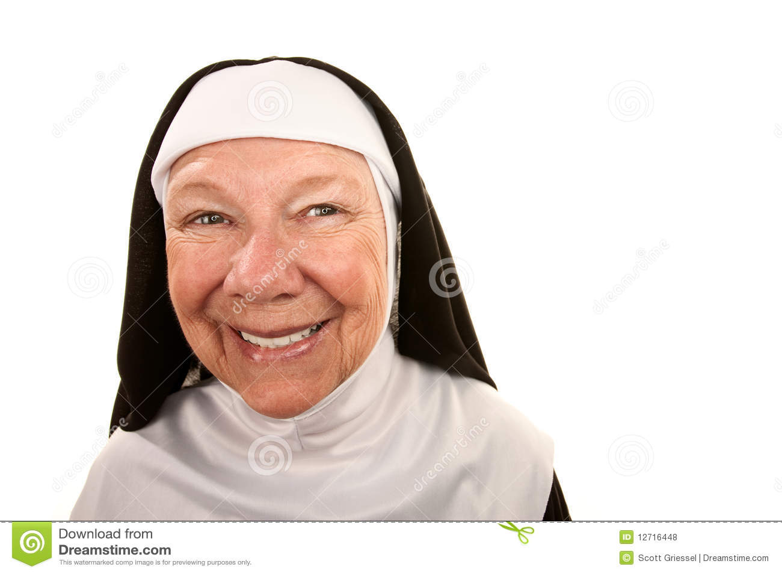 Funny Nun Royalty Free Stock Photos Image 12716448