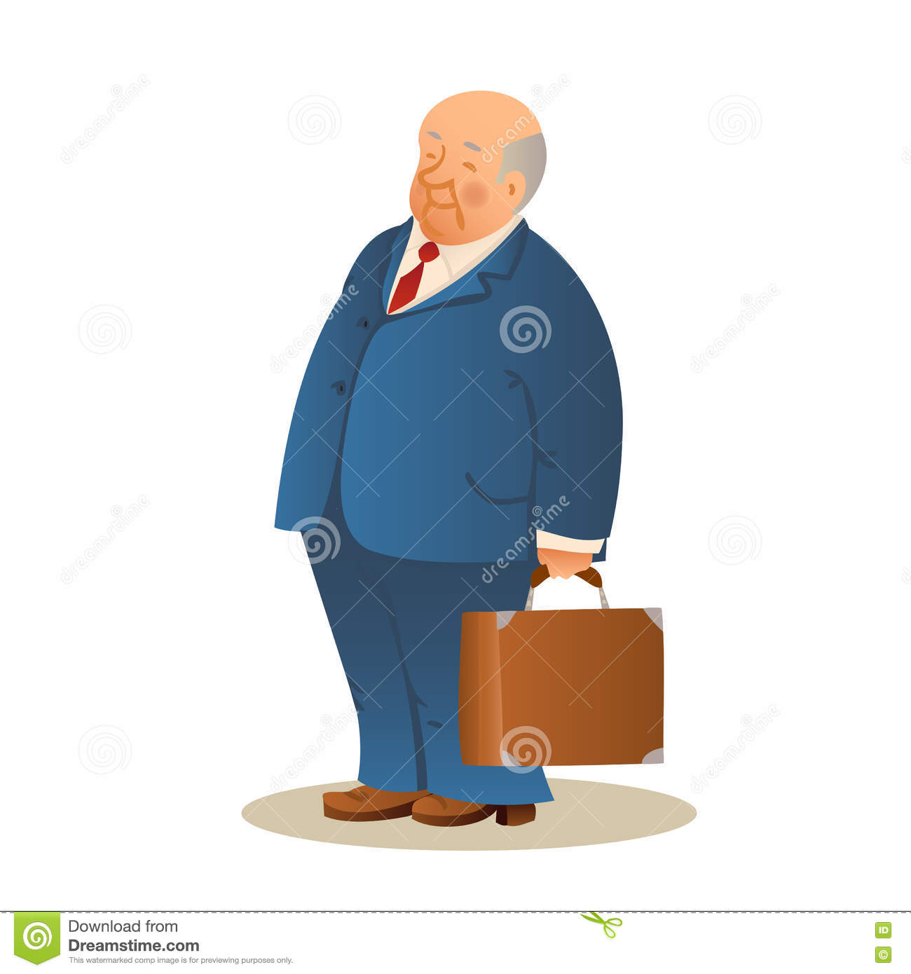 Retirement Colonies Senior Citizens Find A Home Away From: Old Man With A Suitcase. Business Elderly Man, Wearing A