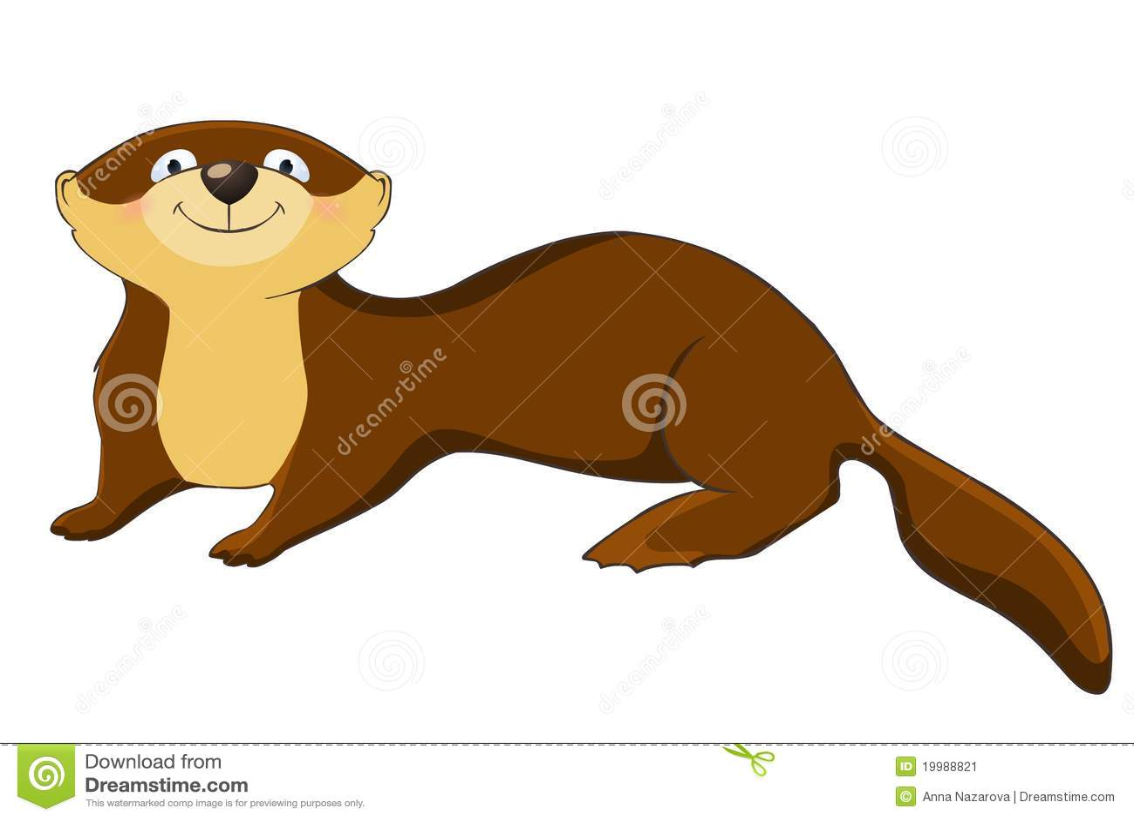 Funny Otter Stock Image - Image: 19988821