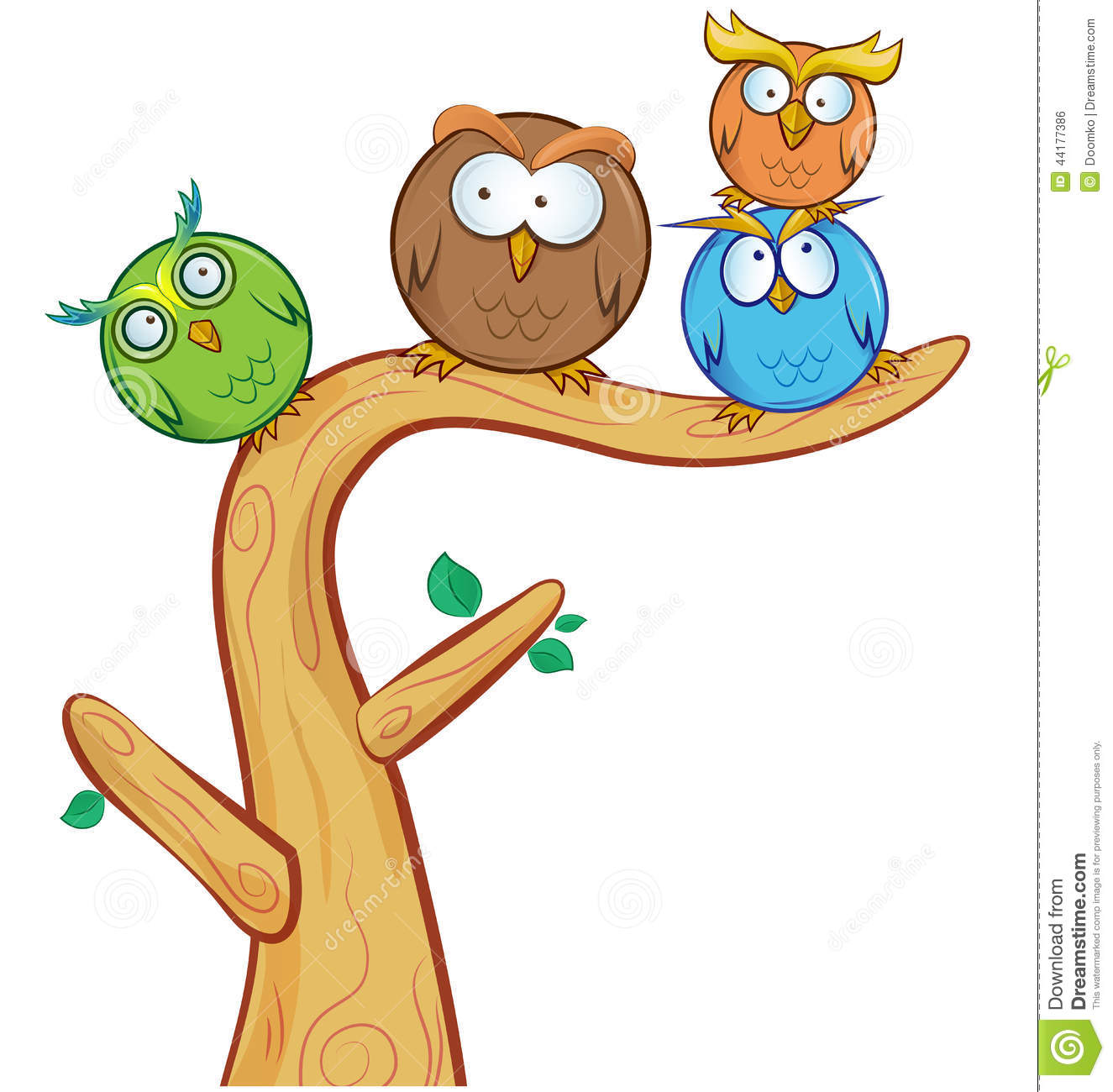 funny cartoon owl royalty free stock image image 31905846