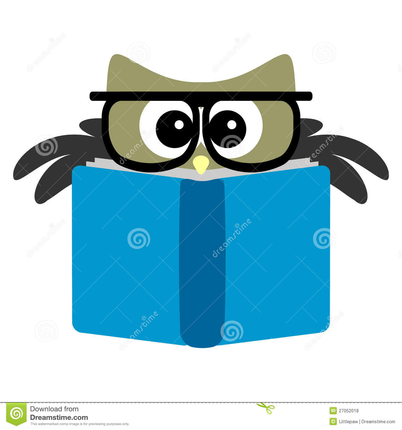 Funny Owl Reading A Book Royalty Free Stock Photos - Image: 27052018