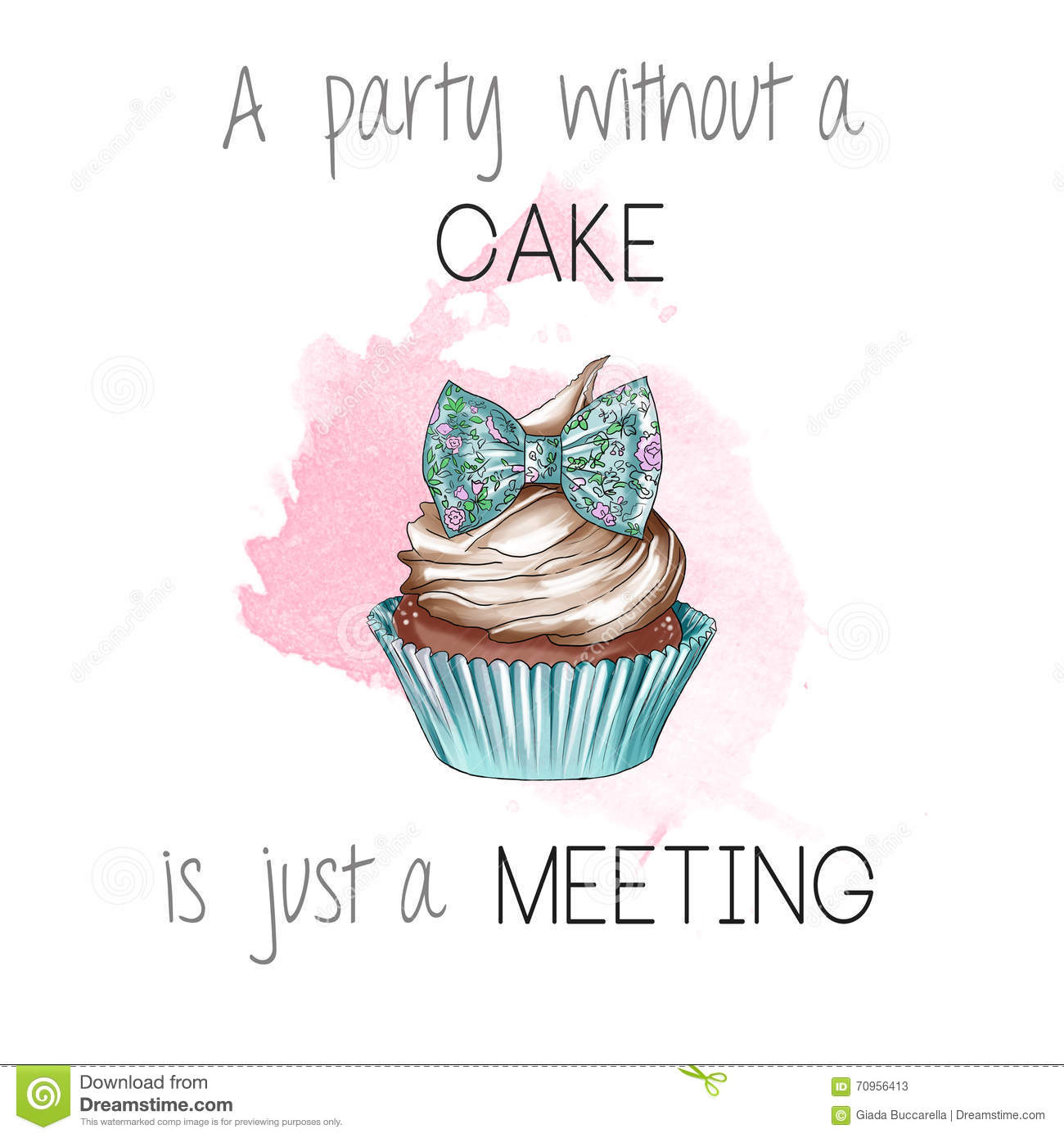 Cake Artist Quotes : Funny Pastry Quote Quote - Quotation Stock Illustration ...