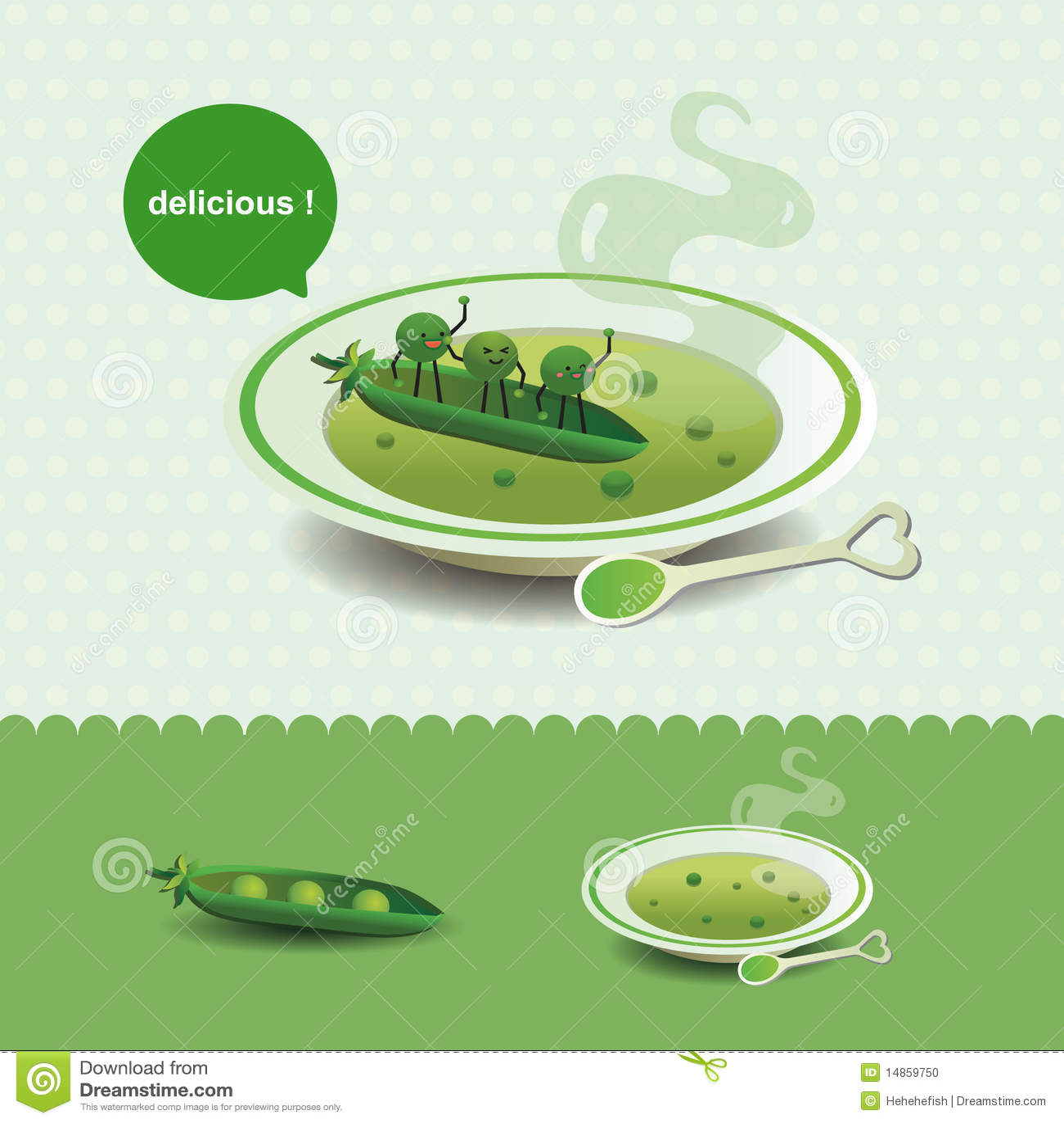 Funny pea soup
