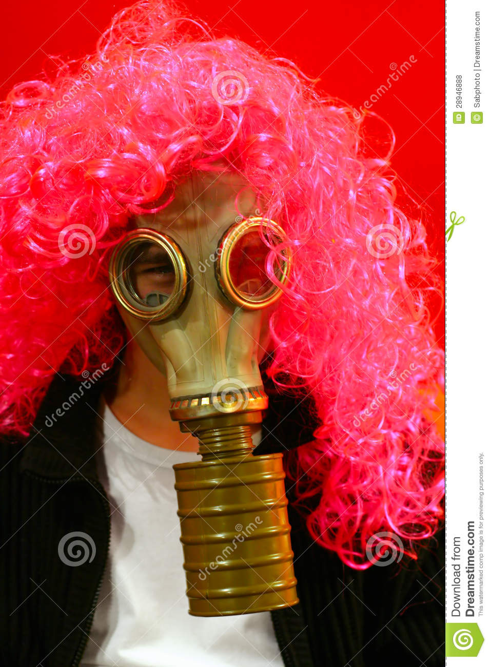 funny person in gas mask stock photo image of shirt 28946888