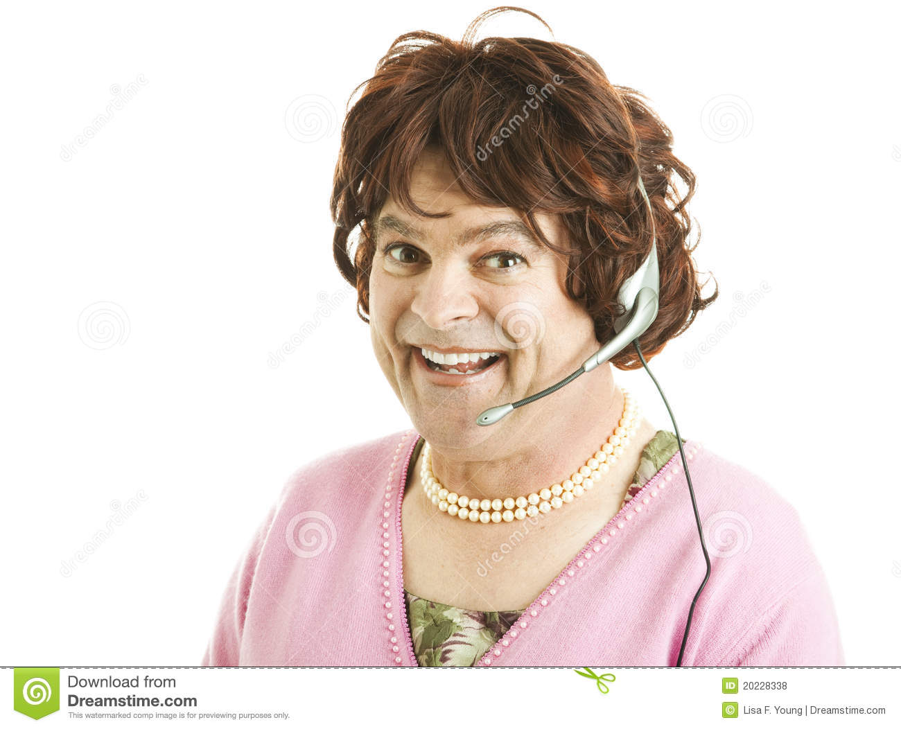 Royalty Free Stock Photos Funny Phone Worker Image20228338