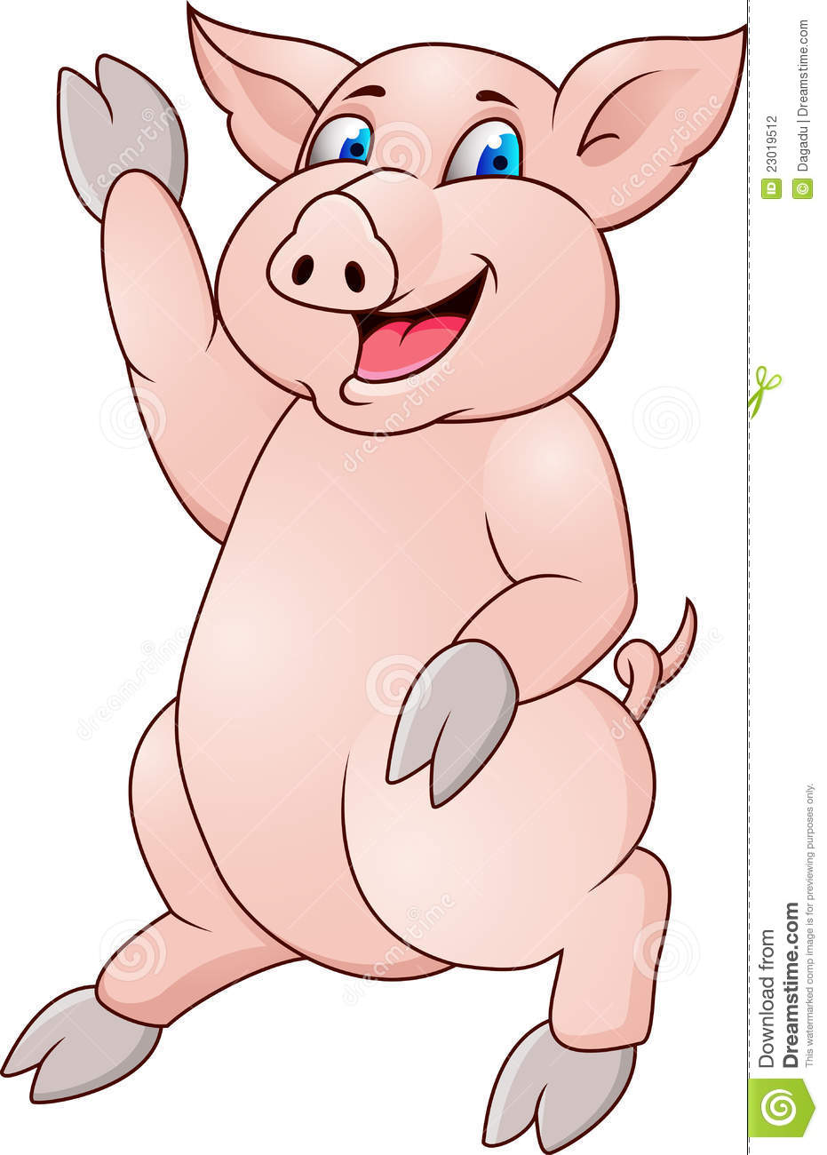 Funny Pig Cartoon Stock Photography - Image: 23019512