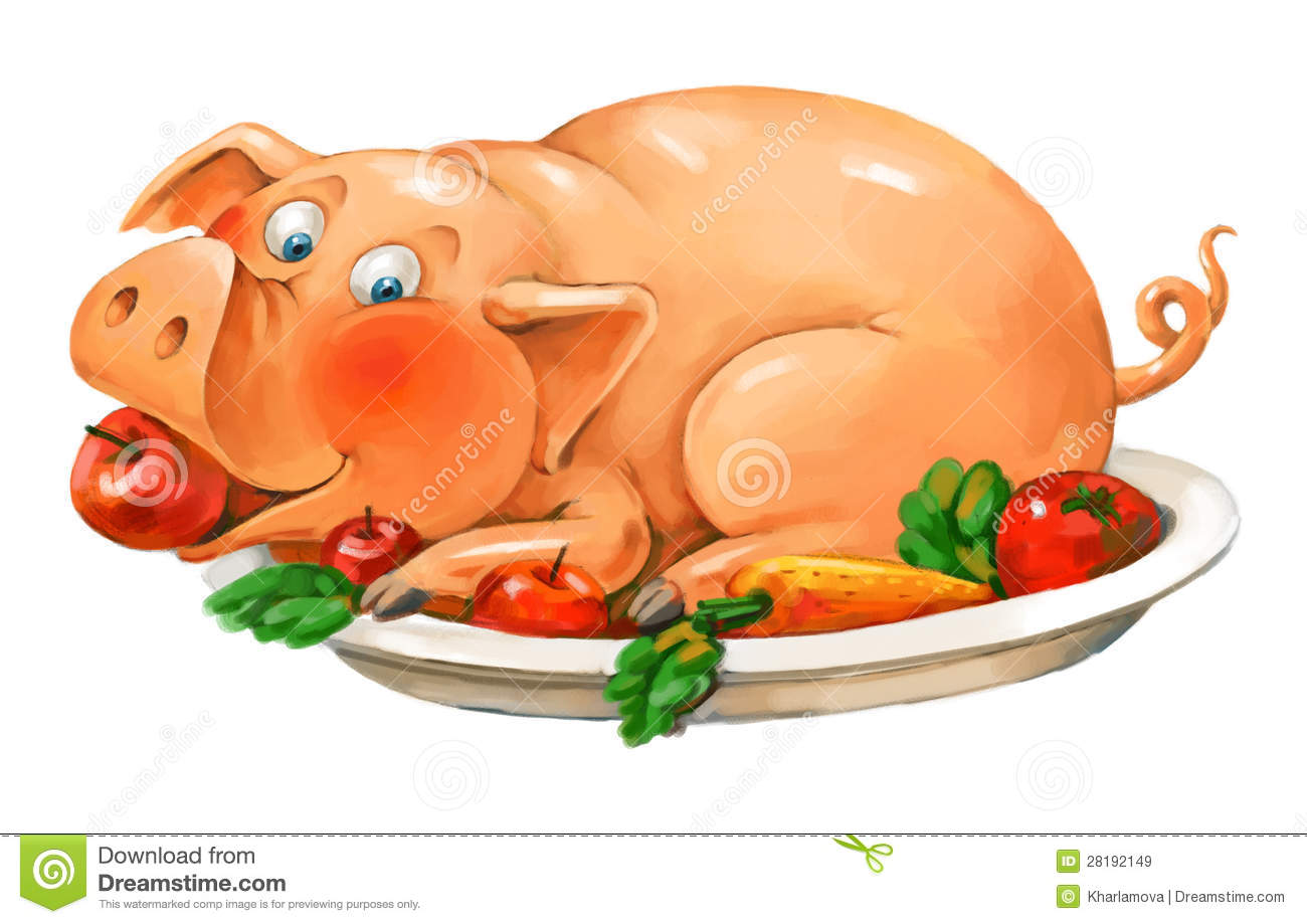 funny pig lies on a plate royalty free stock images bbq clipart pictures bbq clipart free