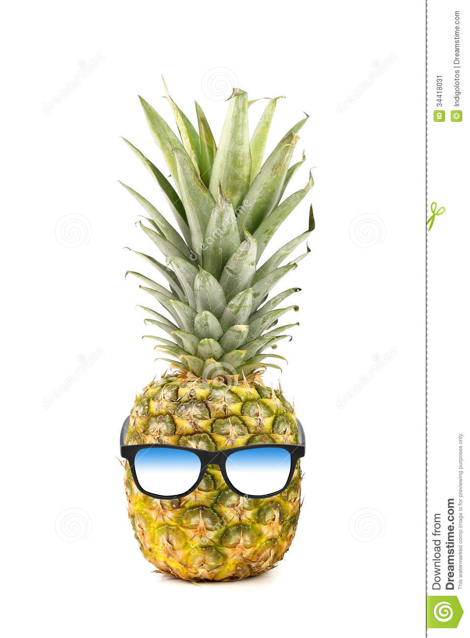 Funny Pineapple With Sunglasses Isolated On White Stock Image - Image ...