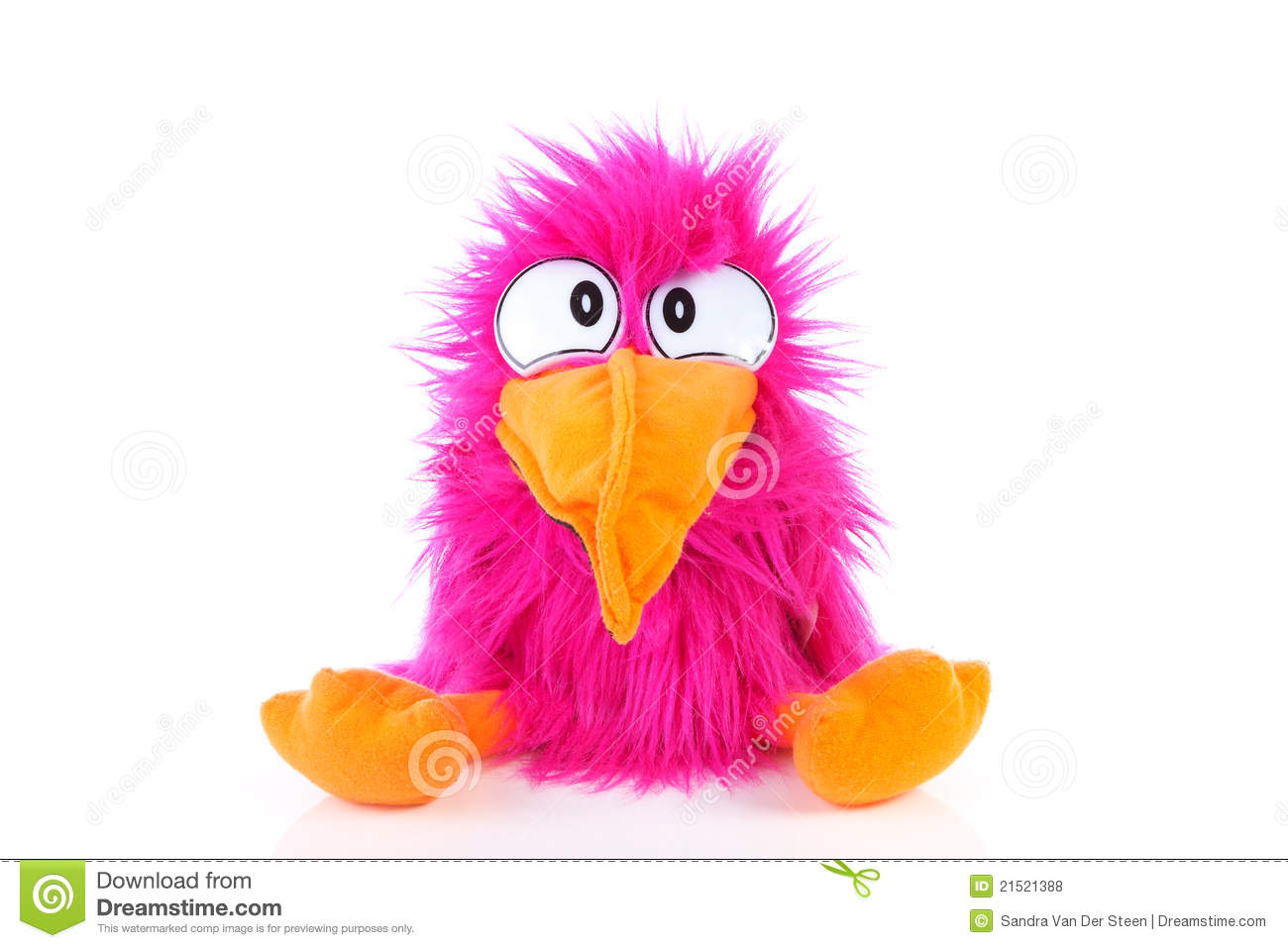 Funny pink bird puppet stock photo. Image of puppet, bird ... - photo#8