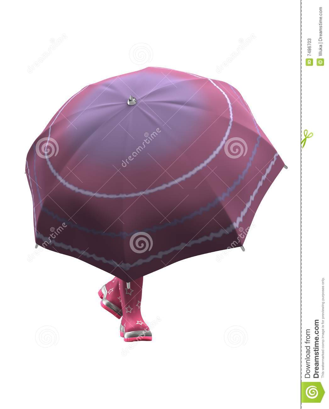 Delivery truck isolated on white background clipping paths included - Funny Pink Rubber Shoes With Umbrella Stock Photos Image