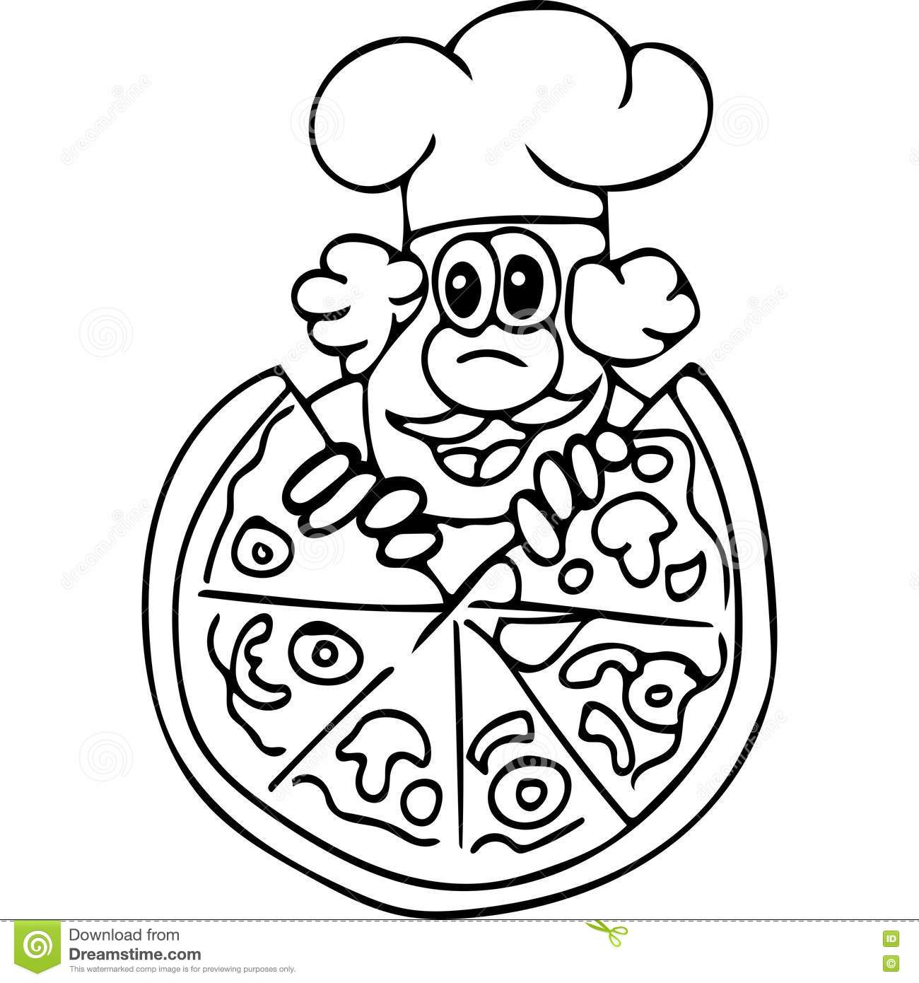 Sliced Pizza coloring page | Free Printable Coloring Pages | 1390x1300