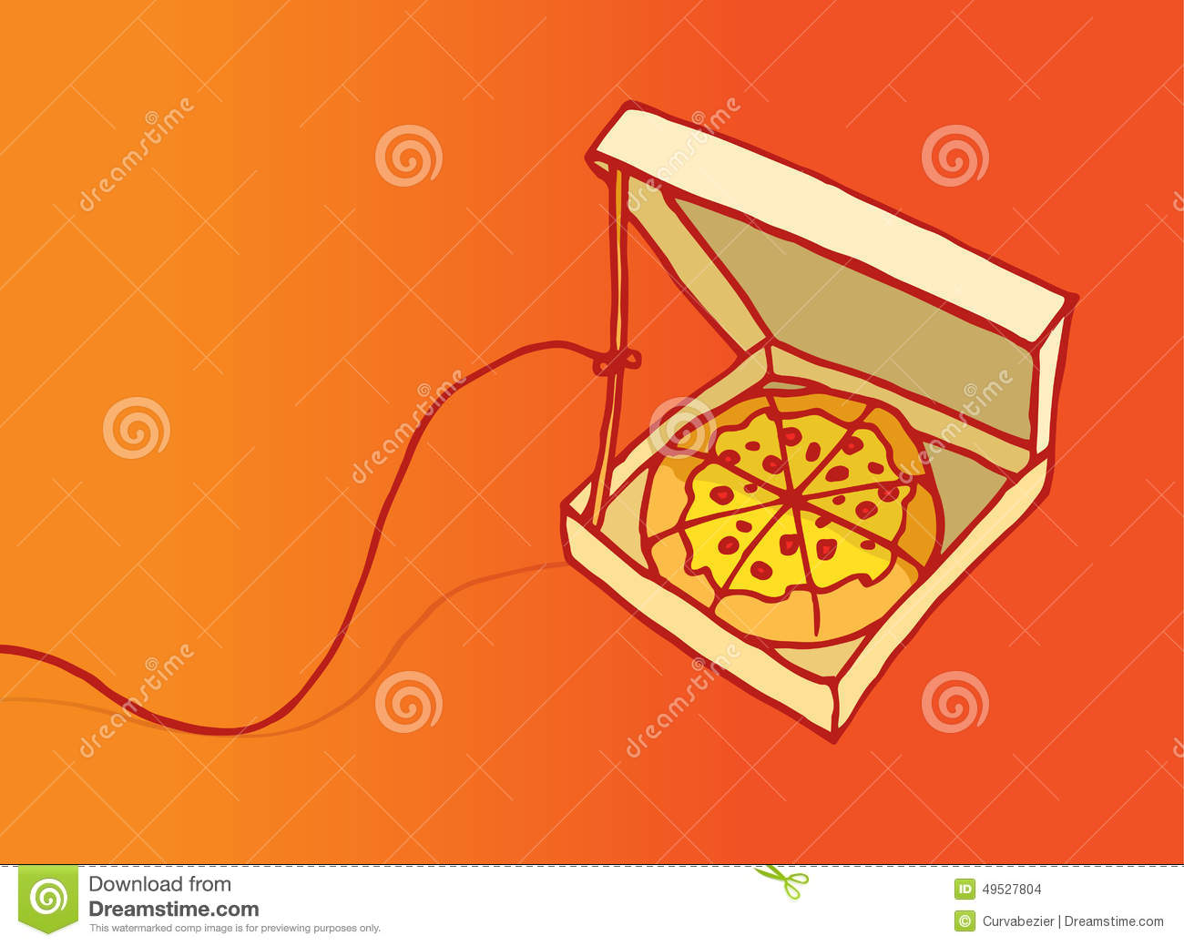 Funny Pizza Trap Or Danger On Diet Stock Vector Image