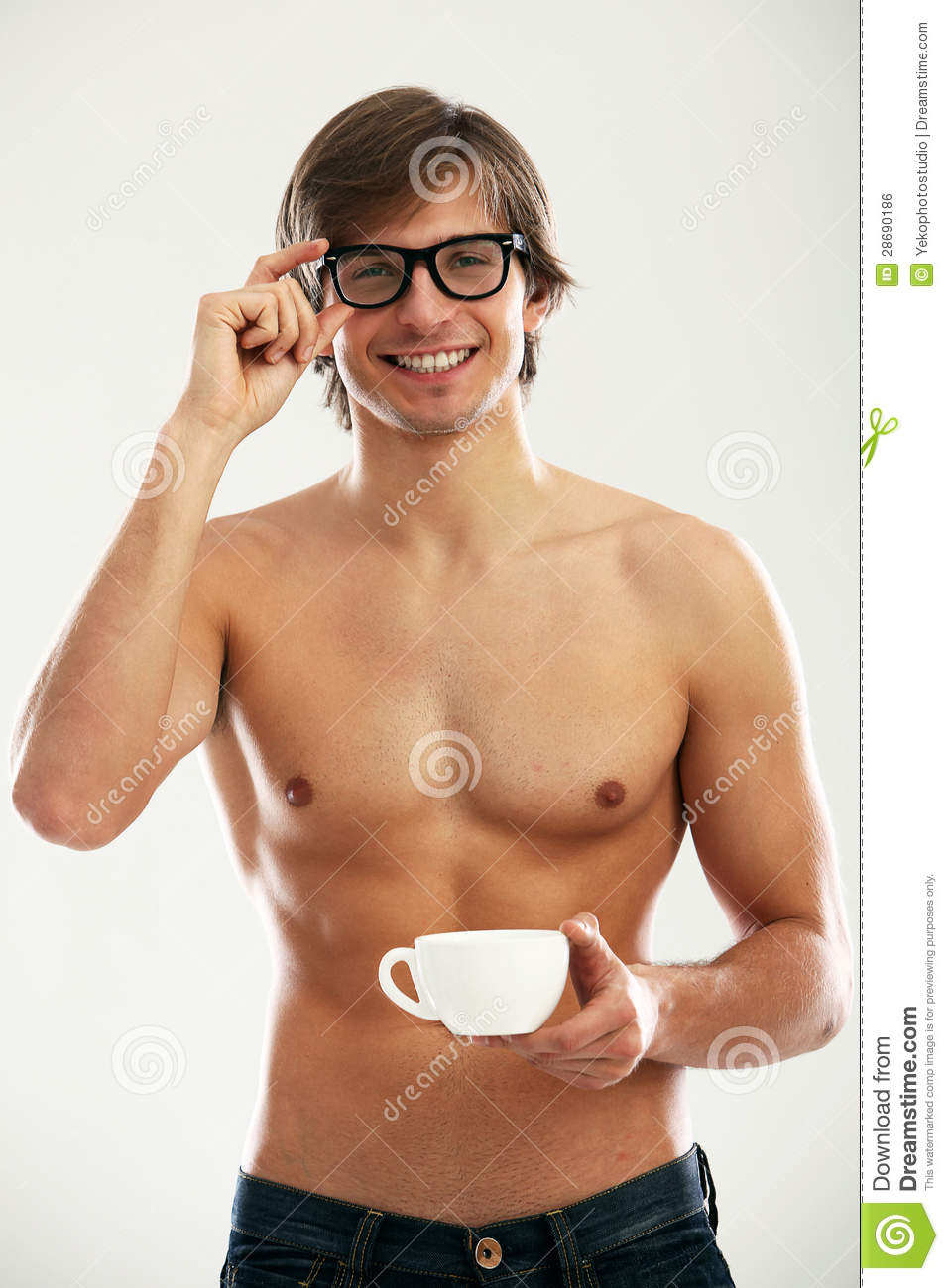 Funny Portrait Of Young Naked Man Stock Photo - Image Of -7445