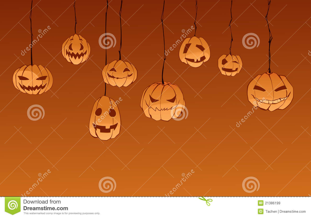 ... on Halloween. Hanging from the ceiling. Illuminated from below