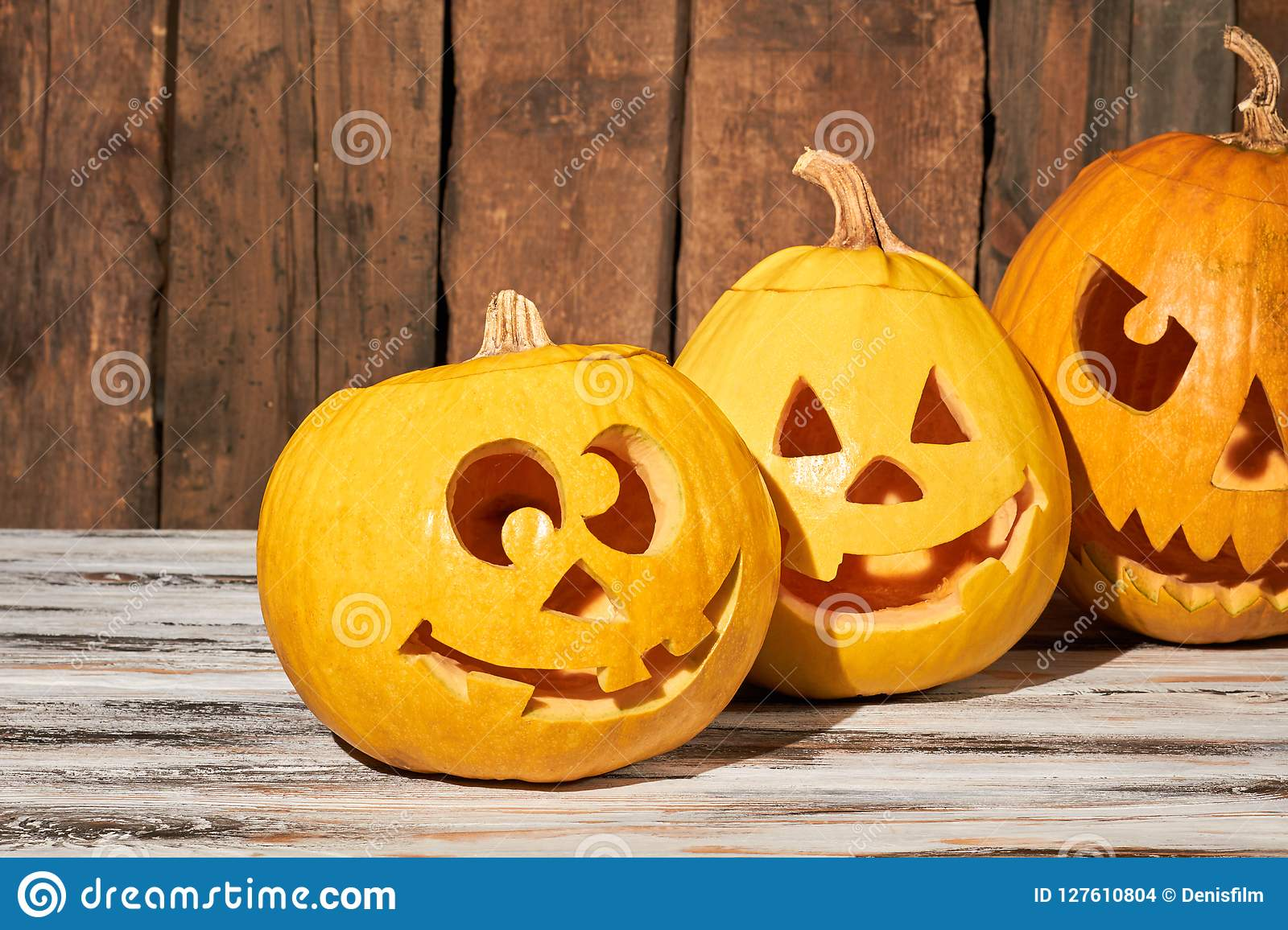Funny Pumpkins For Halloween Holiday Stock Photo Image Of