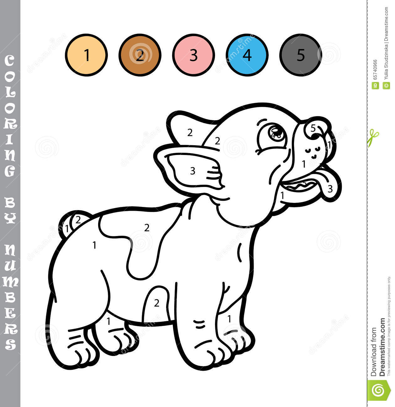 Funny puppy coloring game. stock vector. Illustration of exercise ...