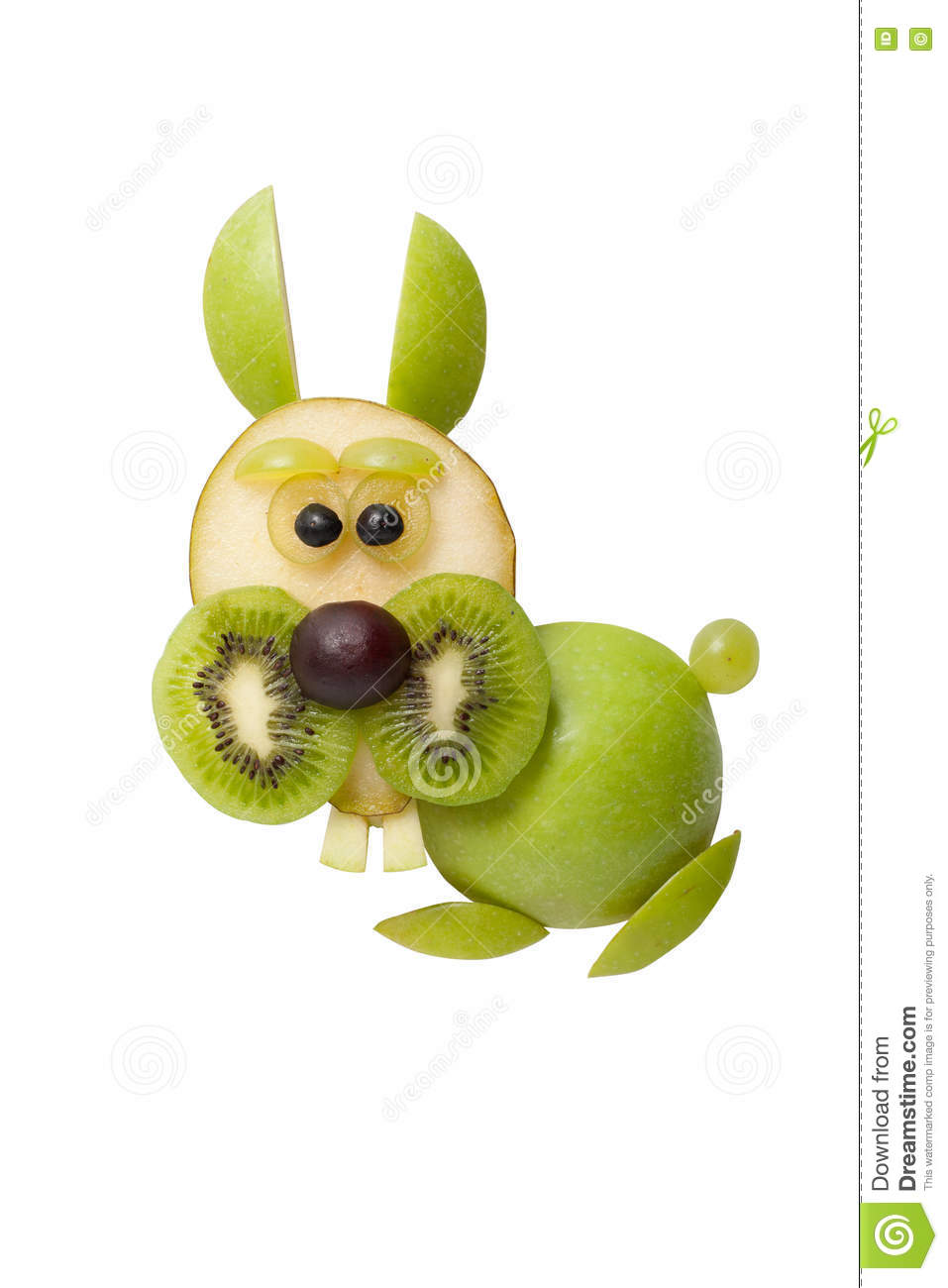 Funny rabbit made of fruits