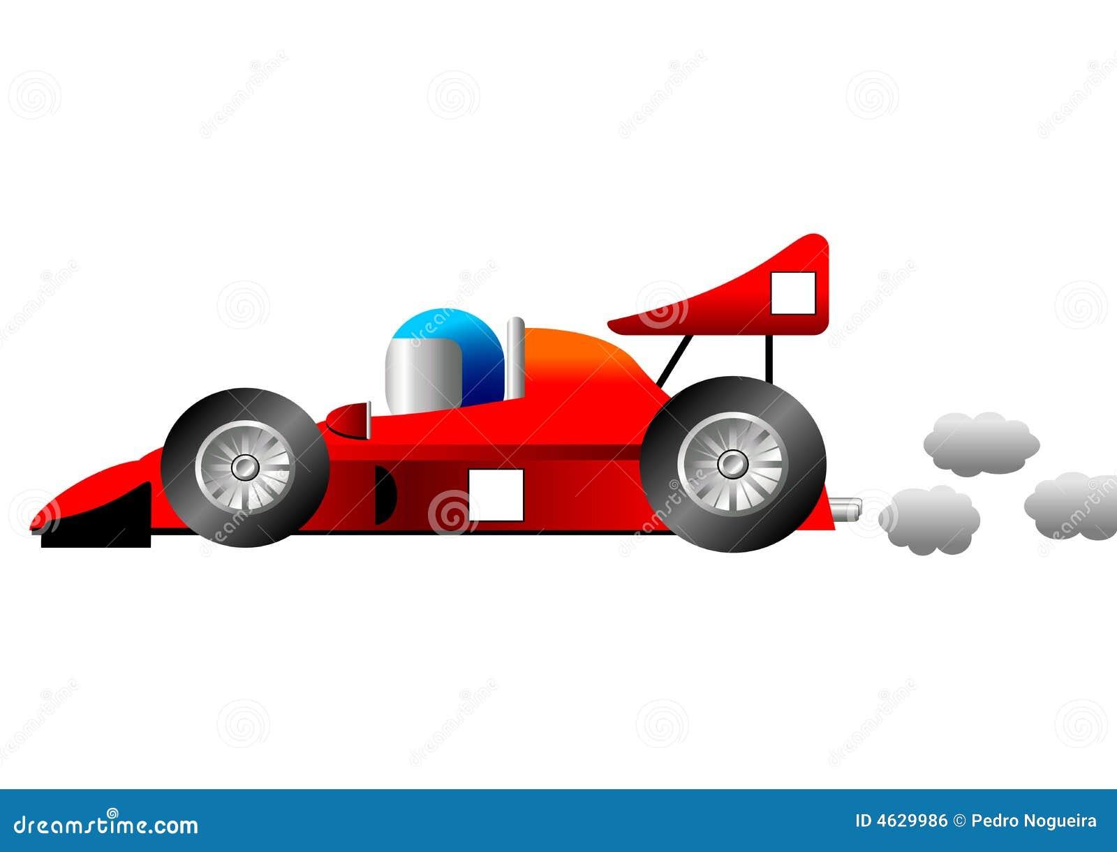 Funny race car stock vector. Illustration of sport, comic ...