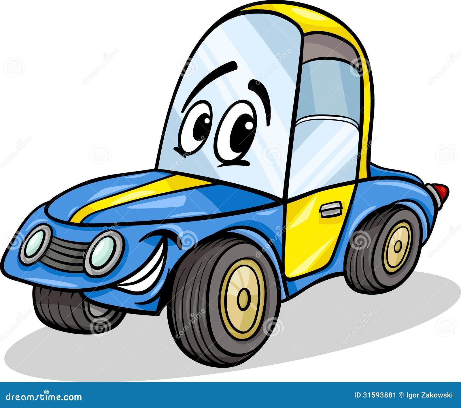 funny racing car cartoon illustration stock image image. Black Bedroom Furniture Sets. Home Design Ideas