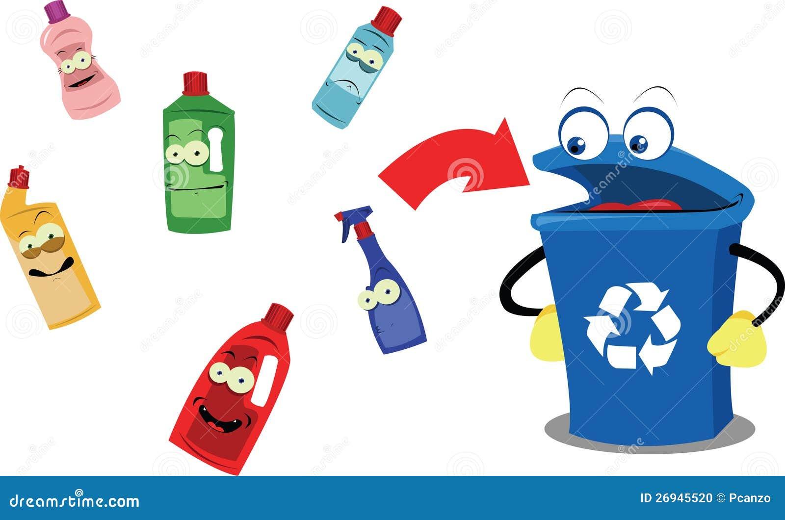 Funny Recycling Bin an...