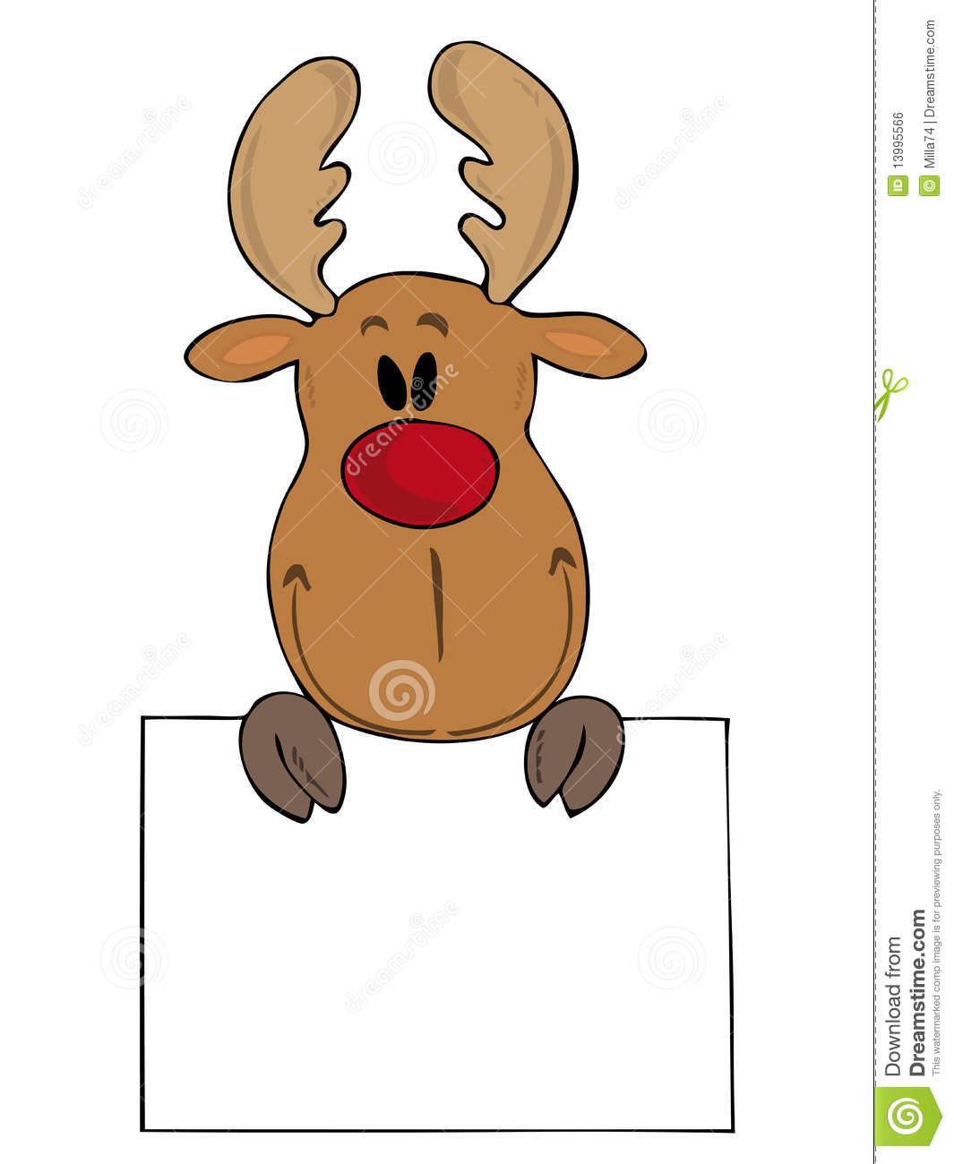Funny Reindeer. Royalty Free Stock Image - Image: 13995566