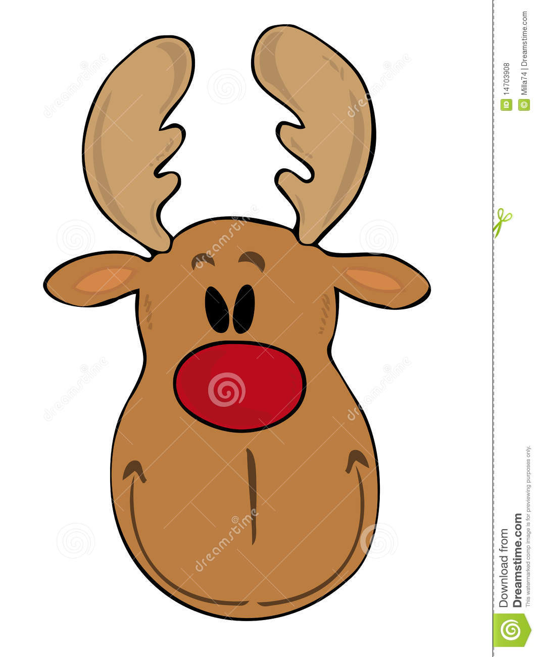 Funny Reindeer Face. Royalty Free Stock Photos - Image: 14703908