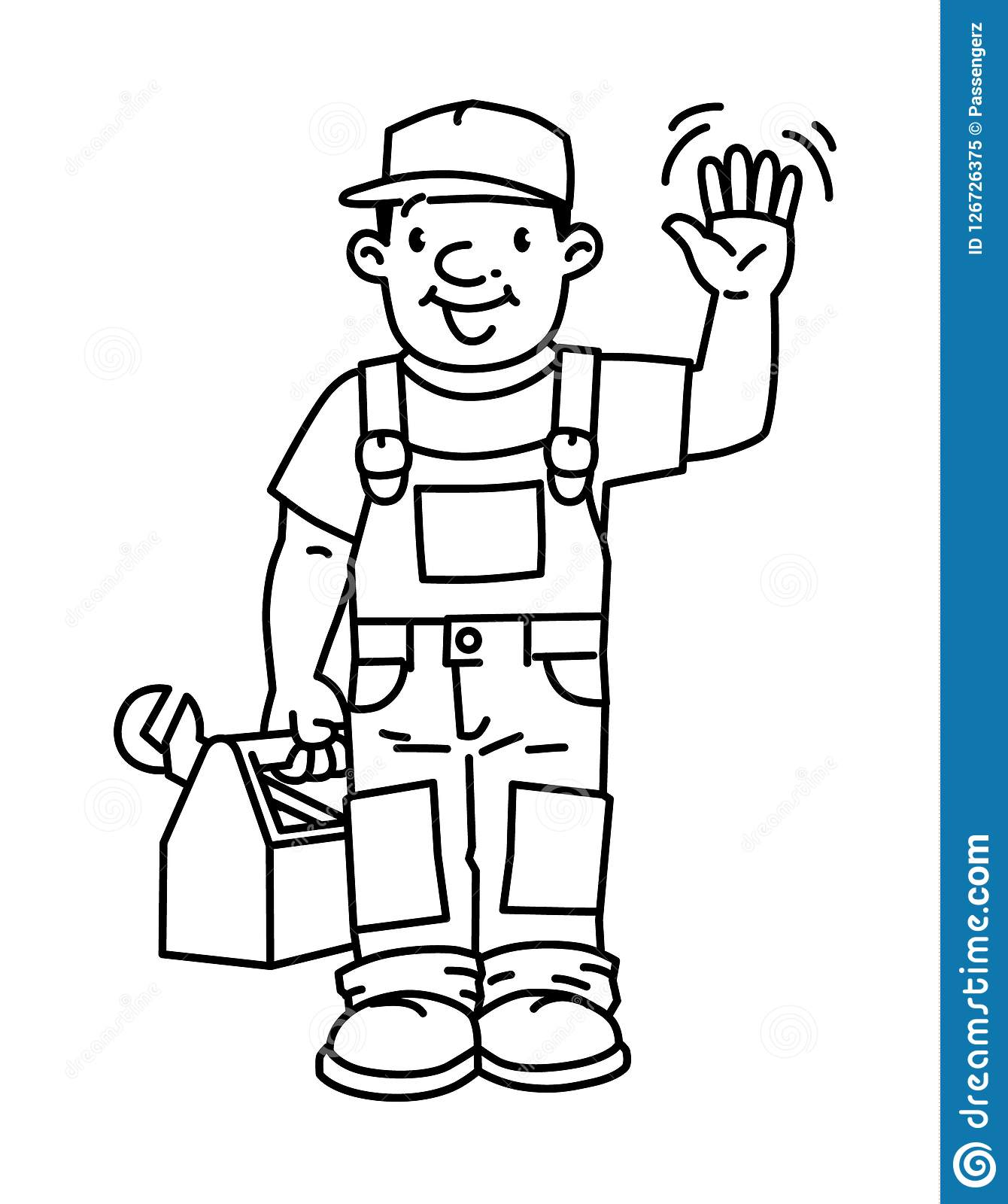Funny Plumber Or Repairman With The Tools Stock Vector