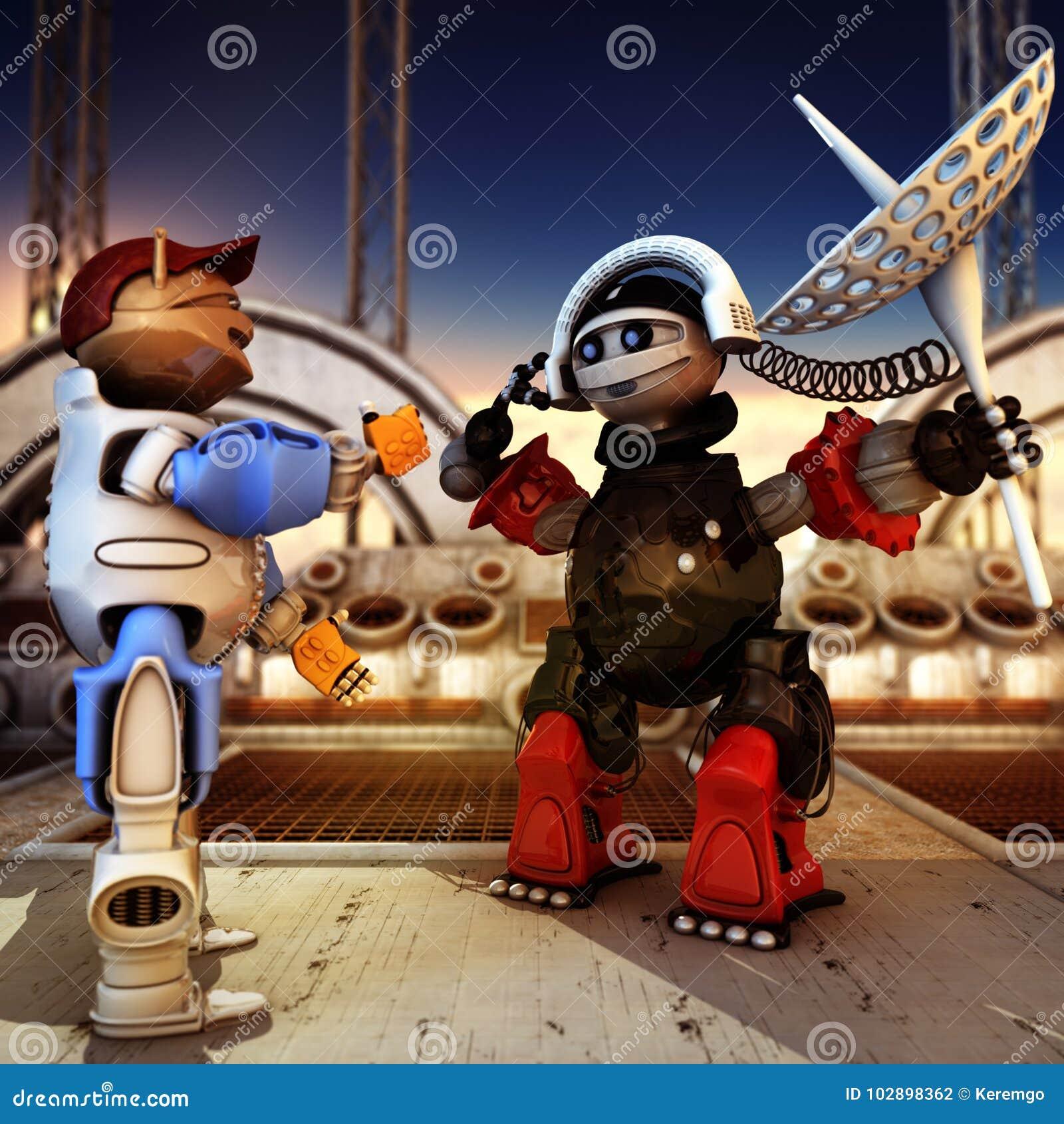 Funny Robots Having Conversation
