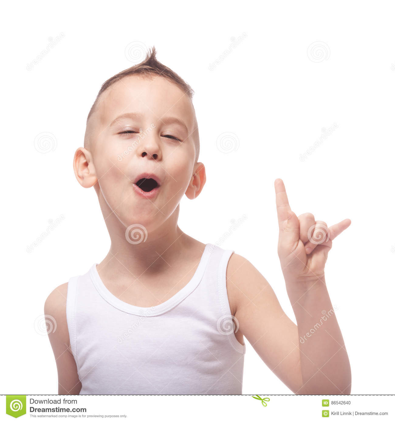 Download Funny rocking kid stock photo. Image of cheerful, pretty - 86542640