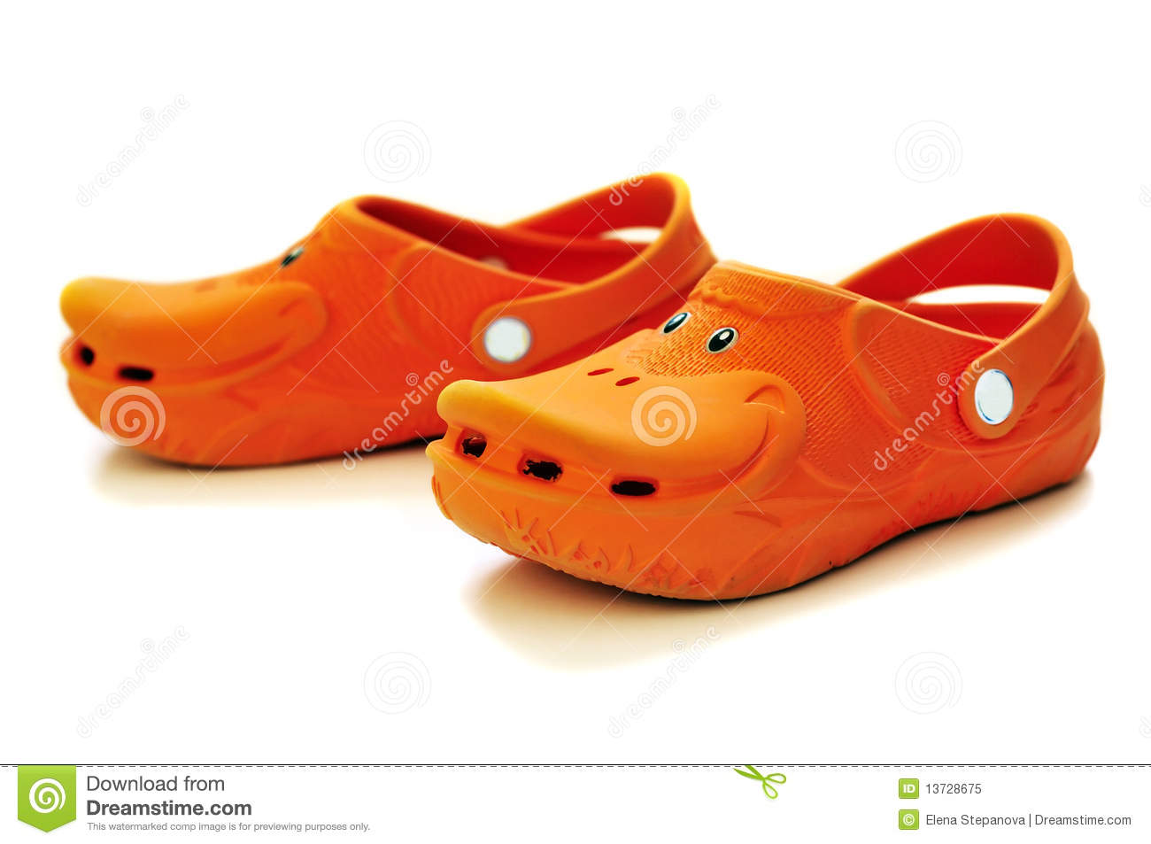 Funny Rubber Shoes Stock Image Image Of Croc Shoe Protect 13728675