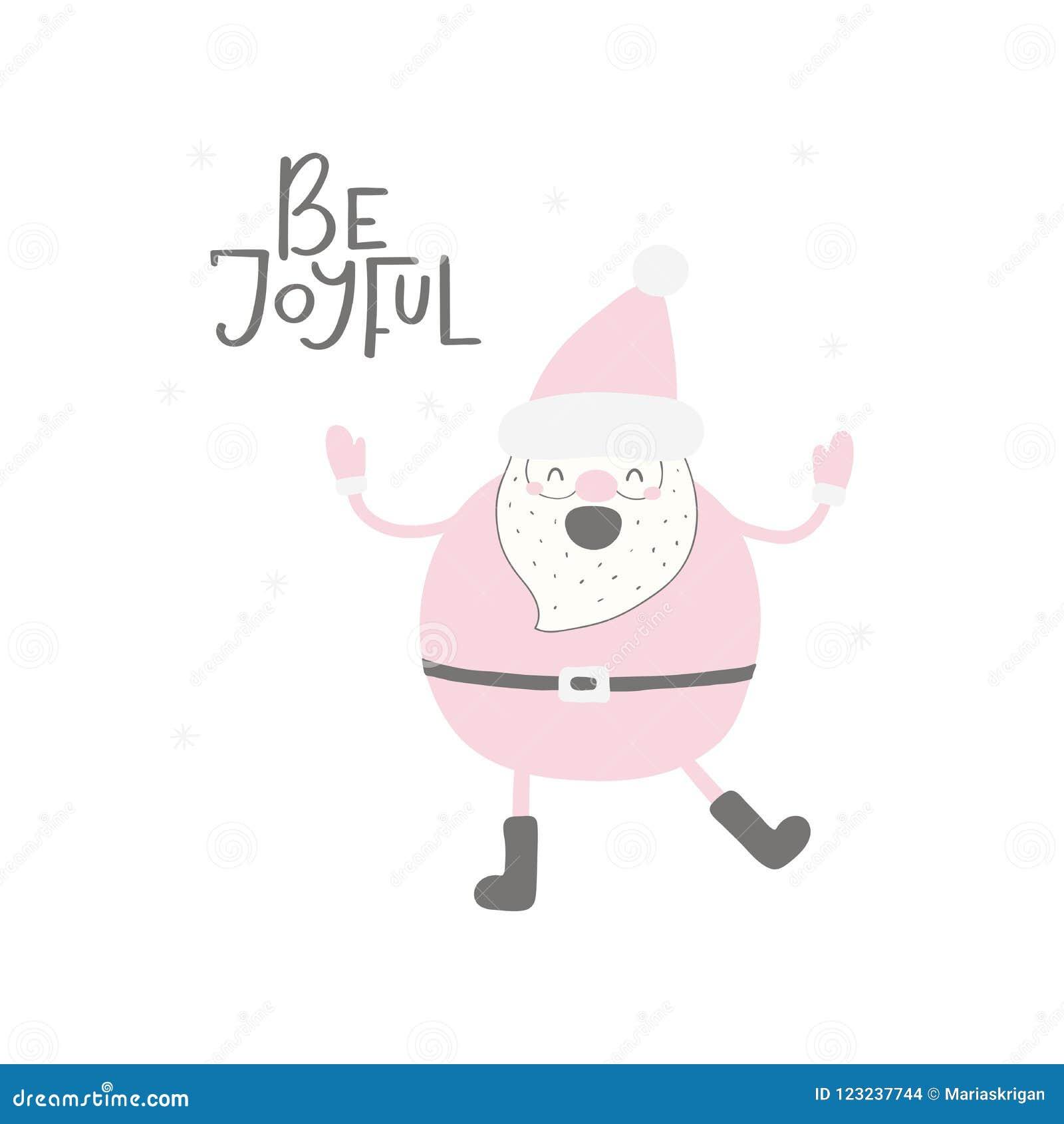 Funny Santa Claus Christmas Card Stock Vector - Illustration of ...