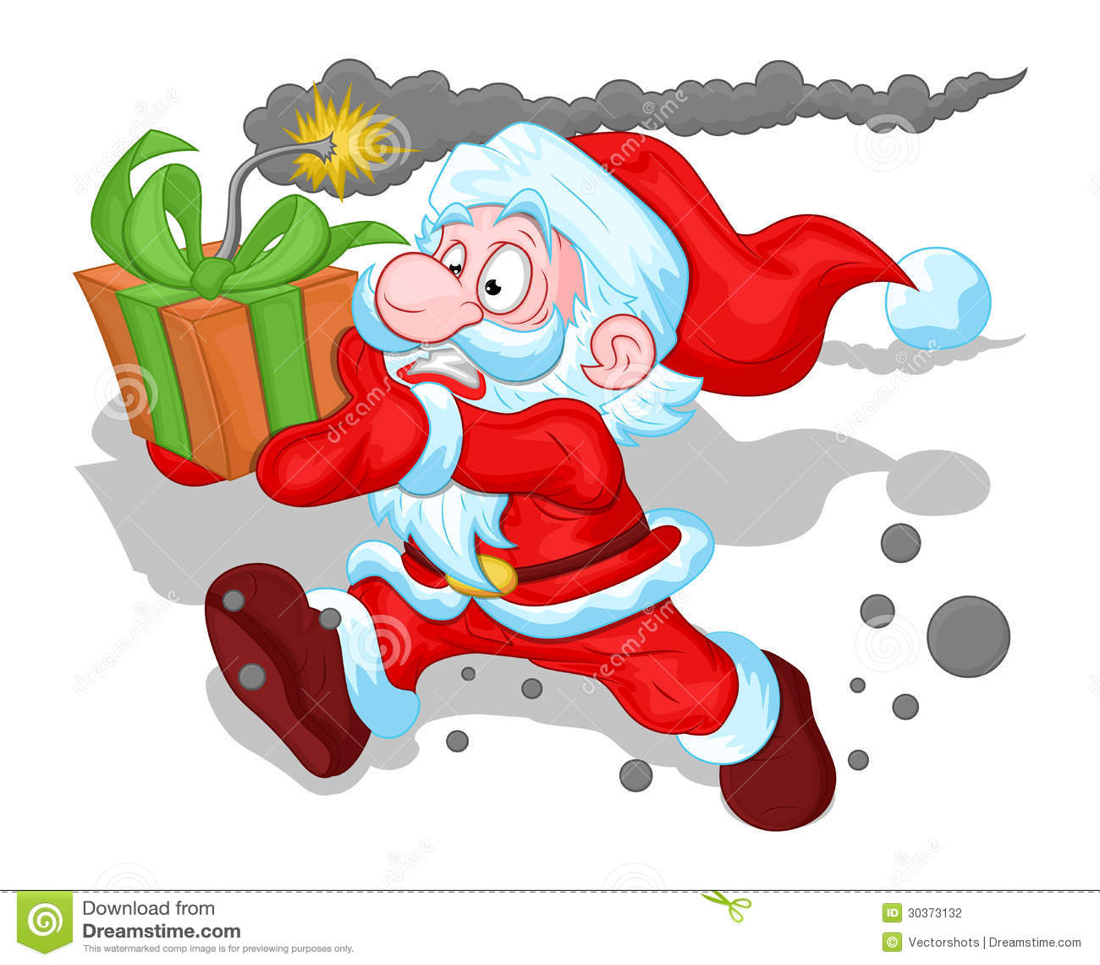 funny santa claus concept christmas vector illustration stock