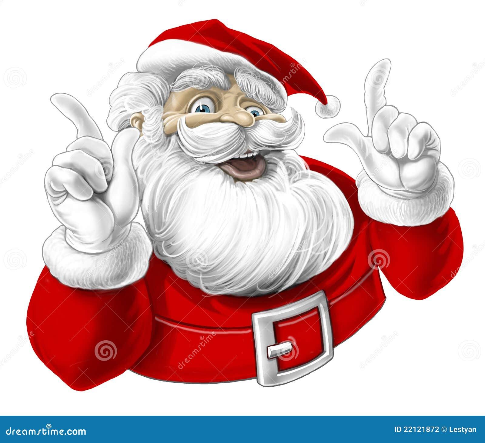 Funny Santa Claus Singing Laughing