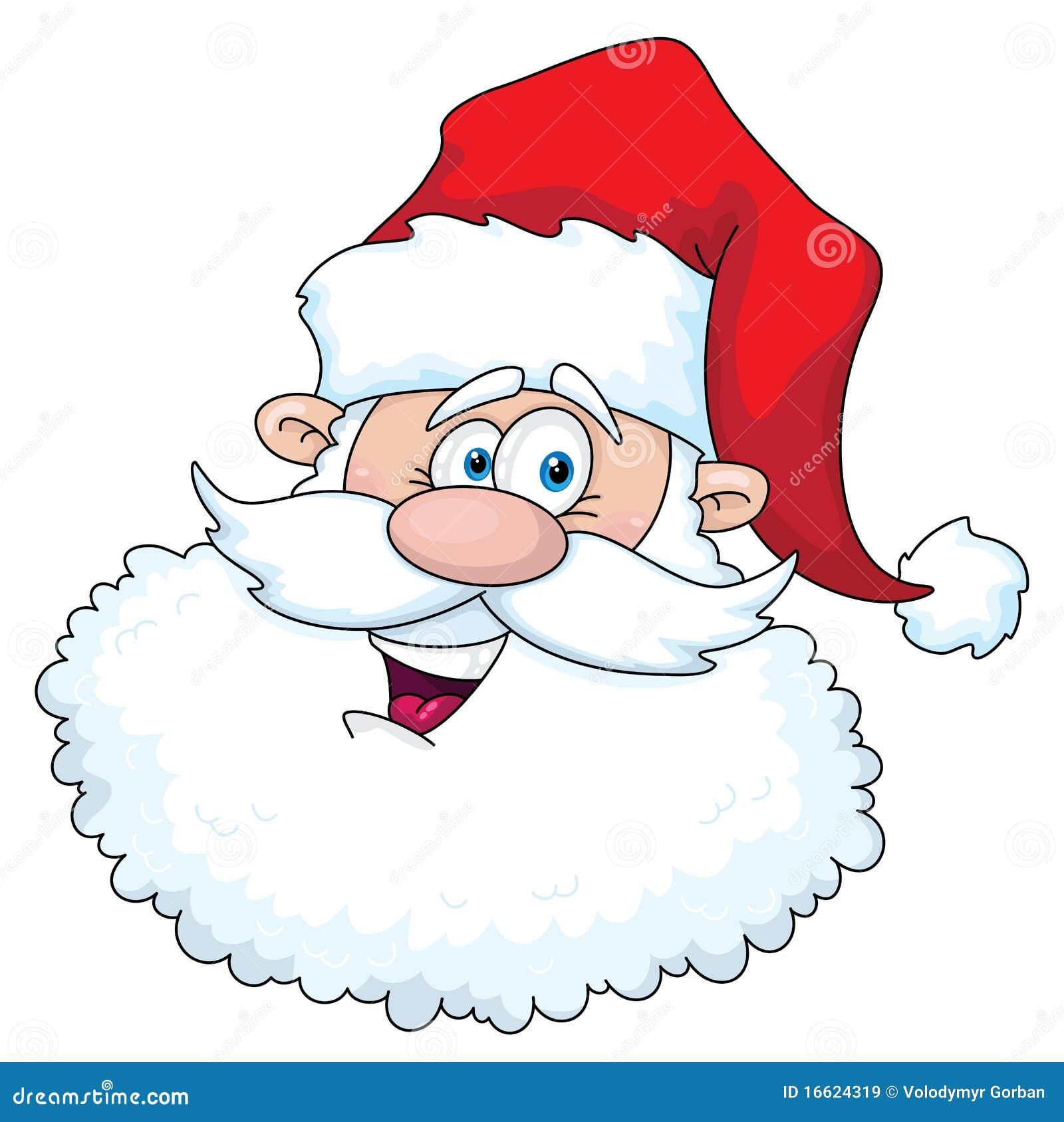 funny santa head royalty free stock images image 16624319