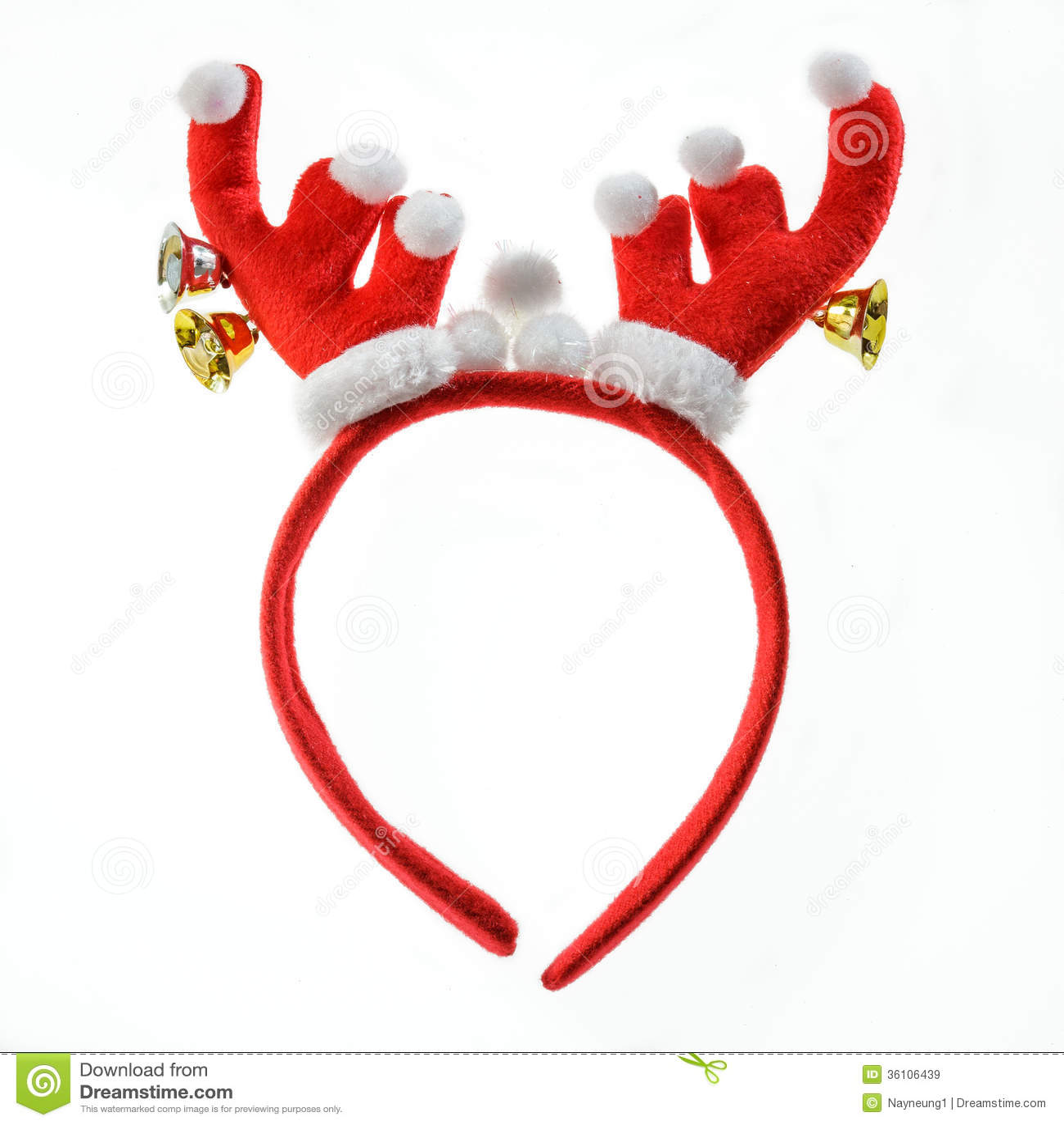 Reindeer Antlers Headband Clipart Funny santa reindeer headband