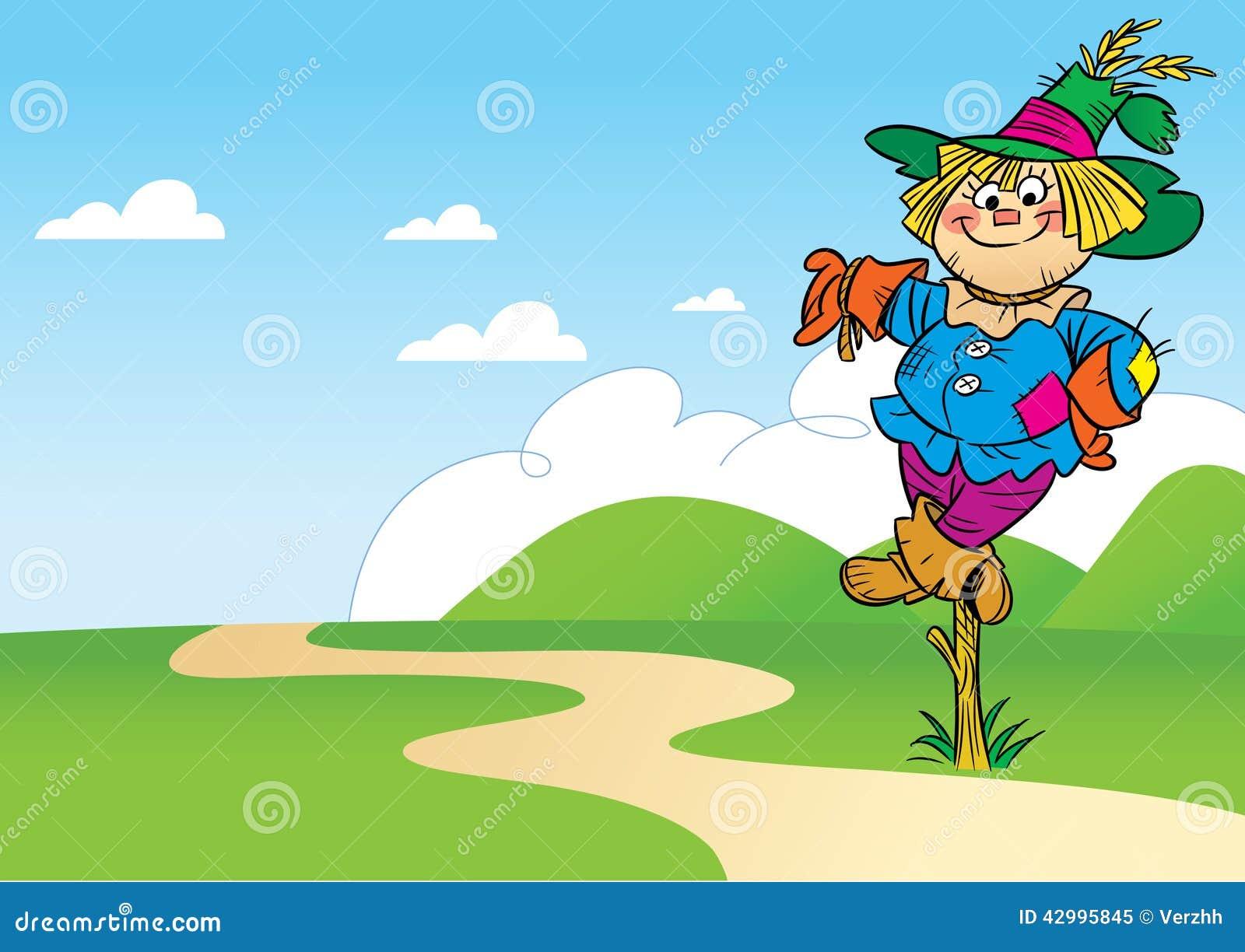 Cute cartoon scarecrow funny scarecrow stock photo image 42995845