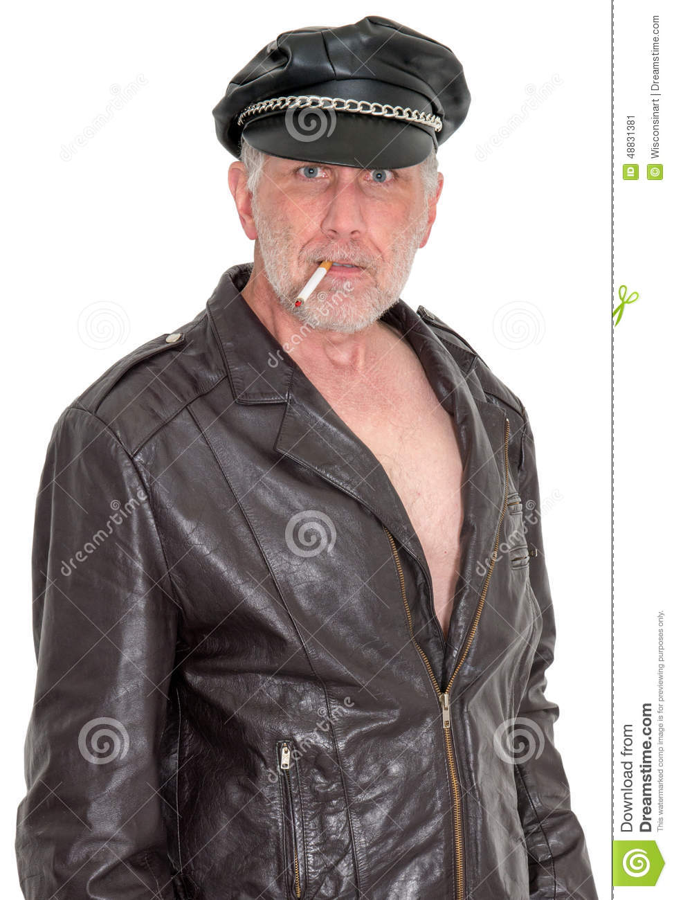 Funny, Scary Tough Guy Biker Stock Photo - Image: 48831381