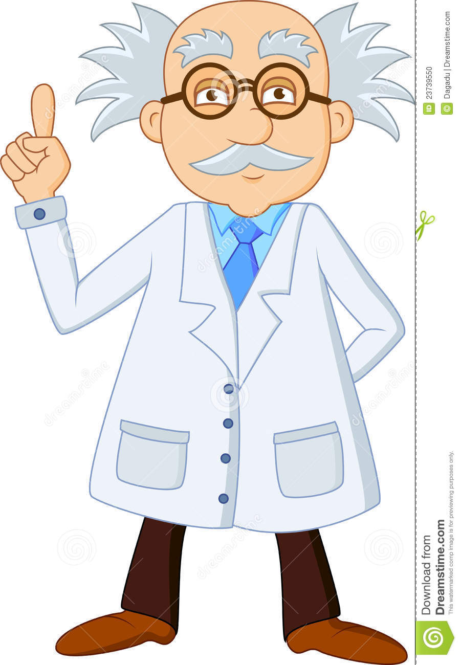 Funny Scientist Cartoon Character Stock Photo - Image: 23739550