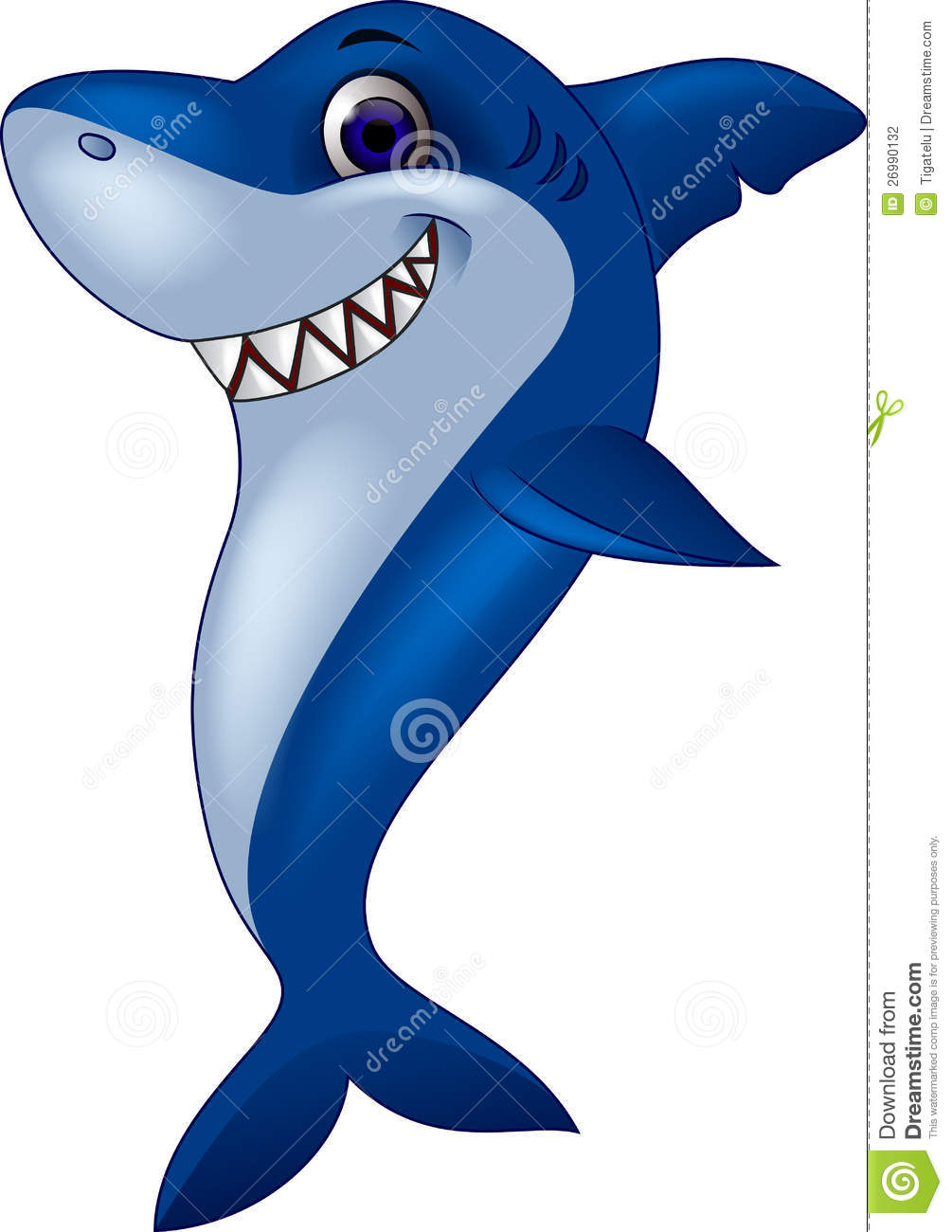 Funny Shark Cartoon Stock Photography - Image: 26990132