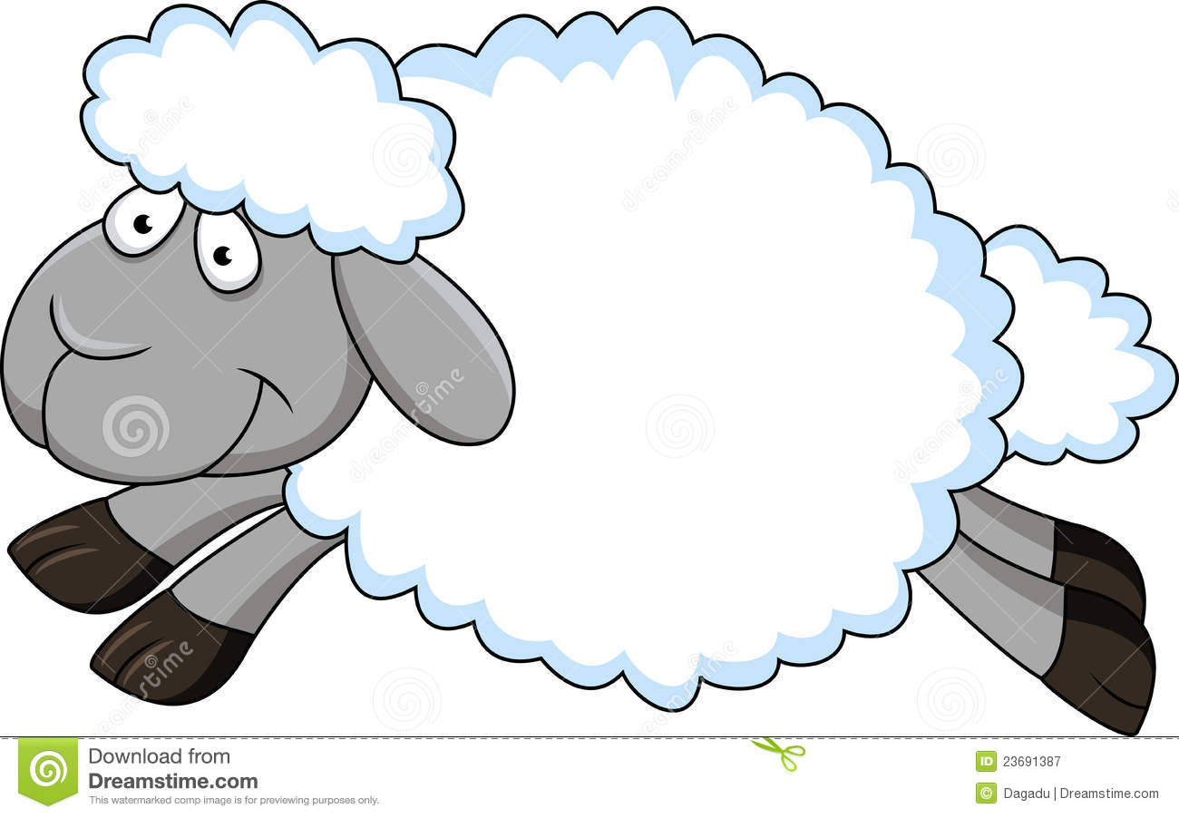 Royalty Free Stock Photography Funny Sheep Cartoon Image 23691387