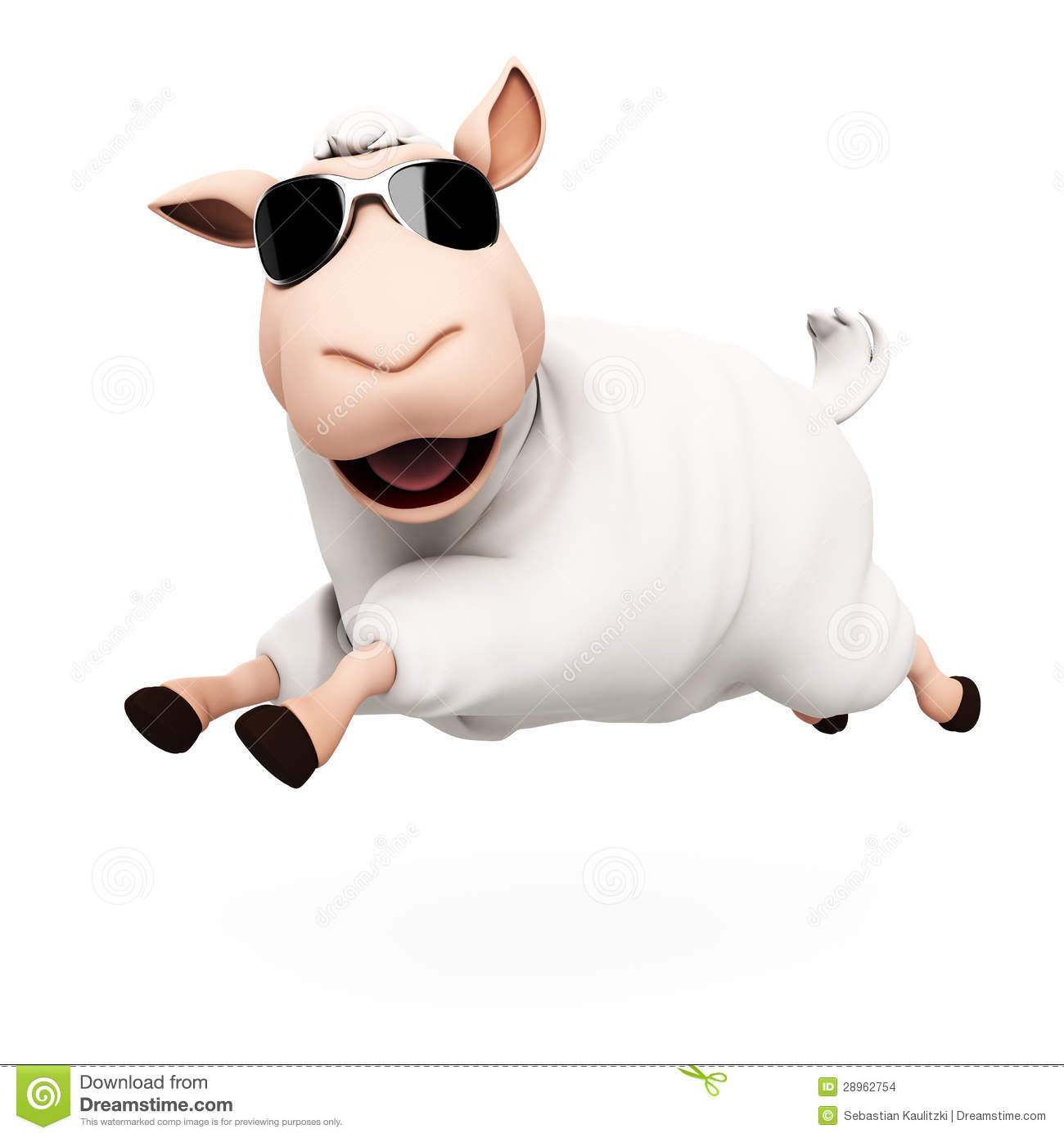 Funny Sheep Character Stock Images