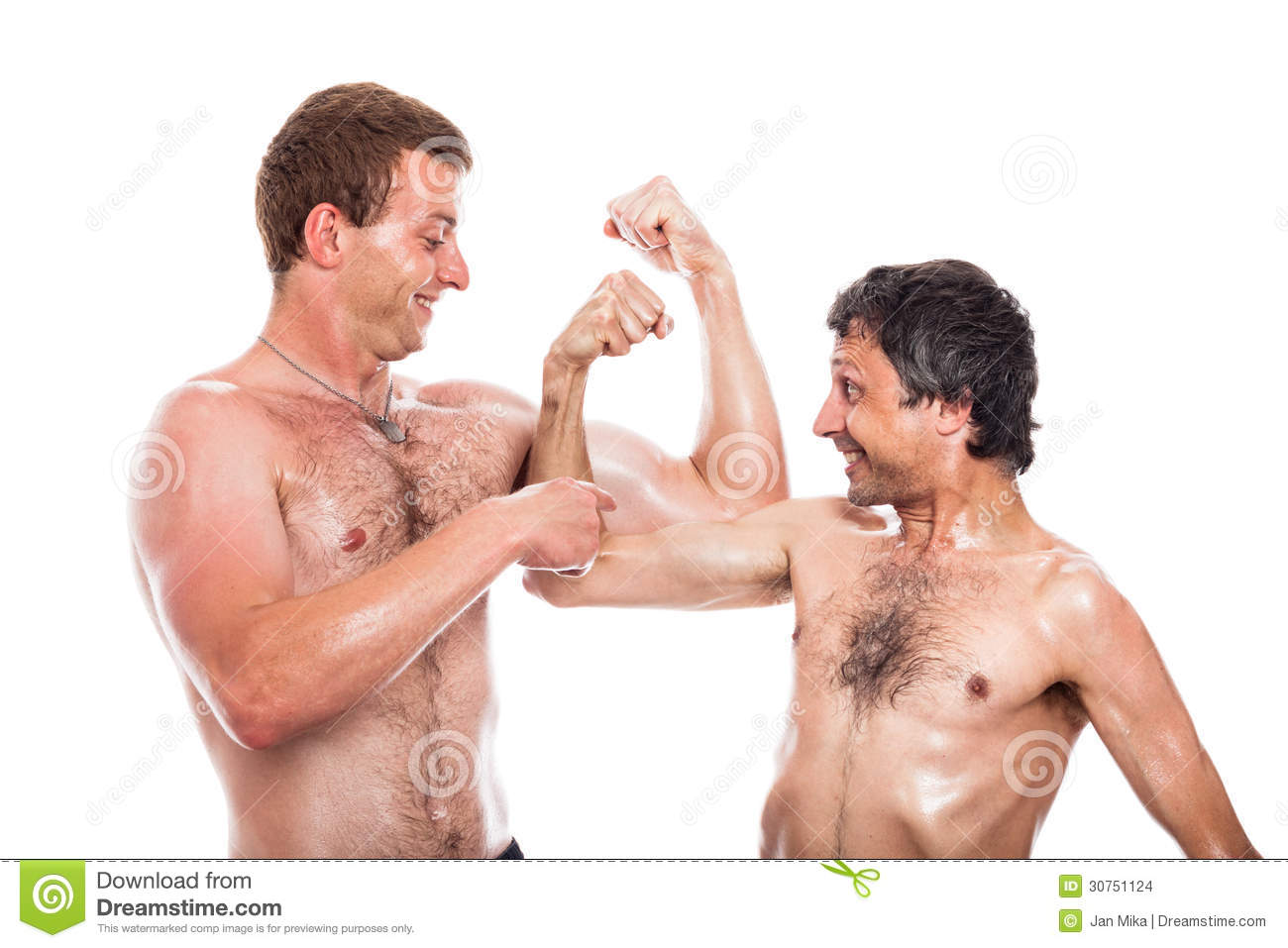 girl guy muscle comparisons