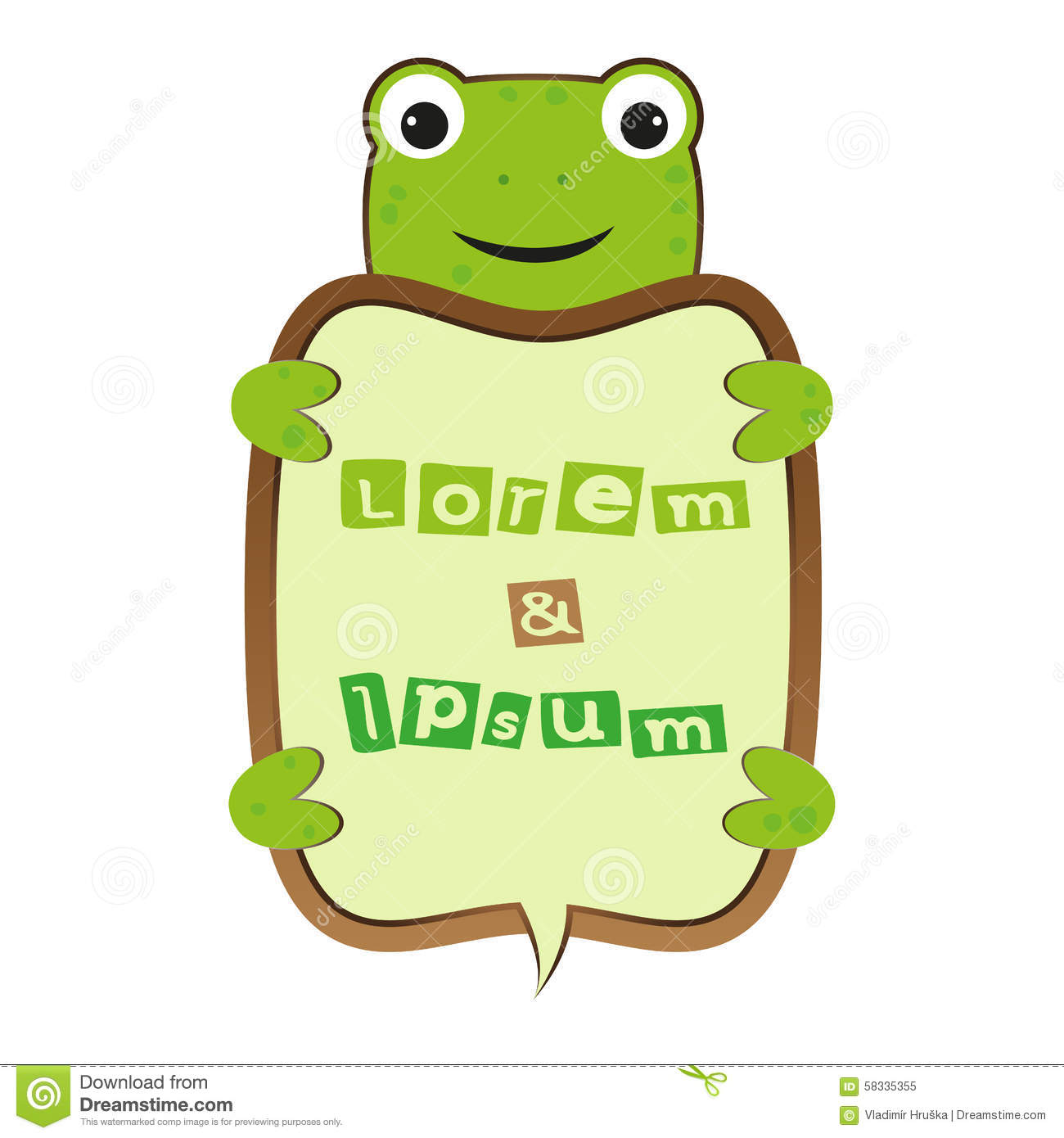 funny smile cute cartoon turtle or frog self business
