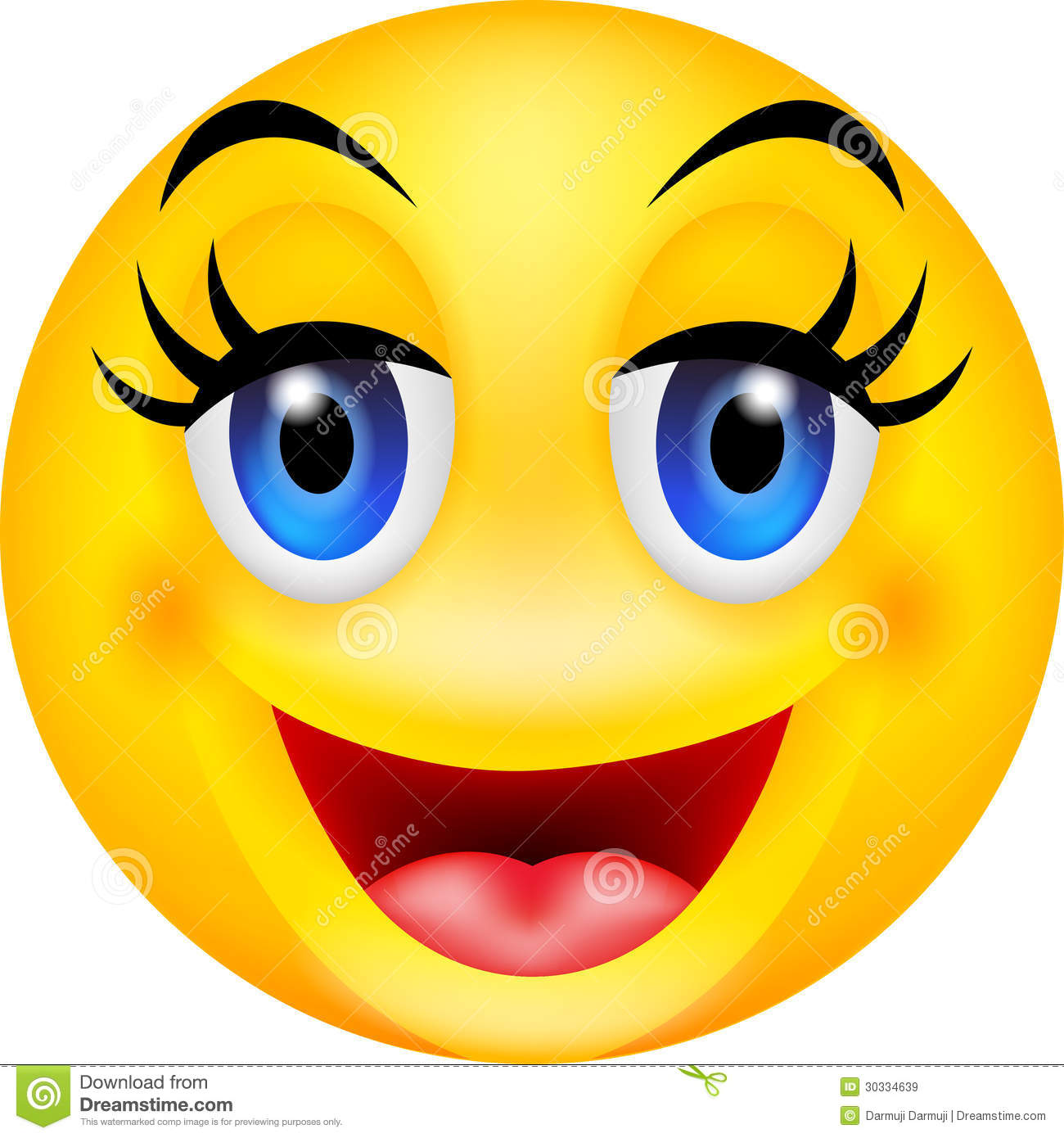 Funny smile emoticon stock vector. Illustration of ball ...