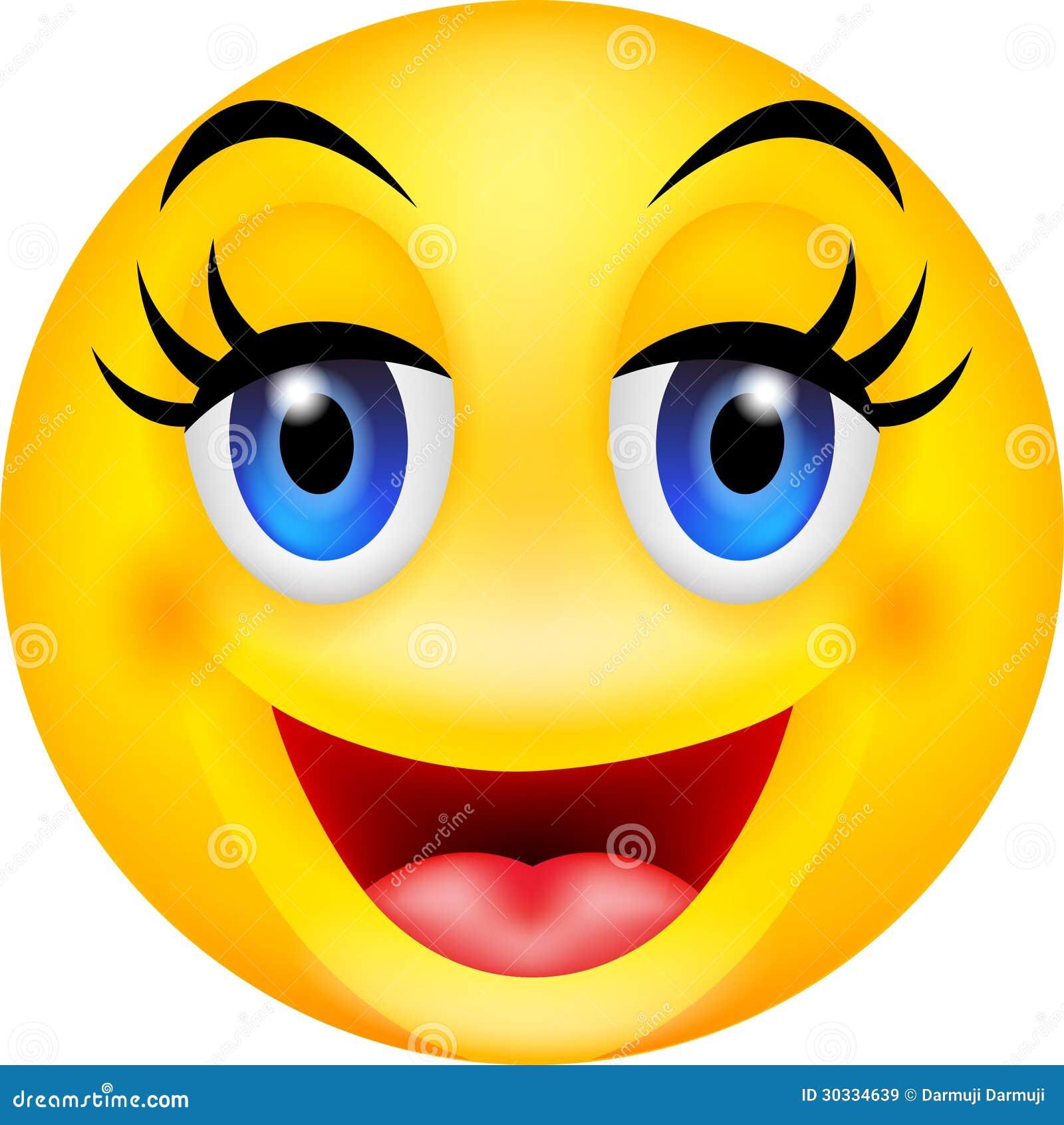 Funny smile emoticon Smile