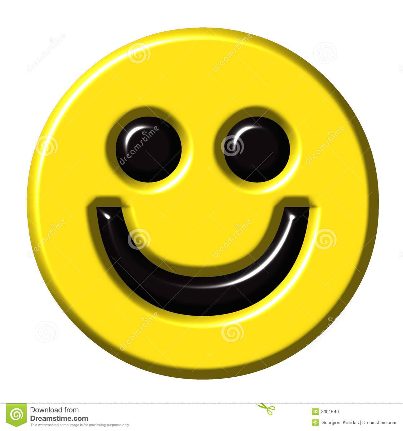 Funny Smiley Isolated White