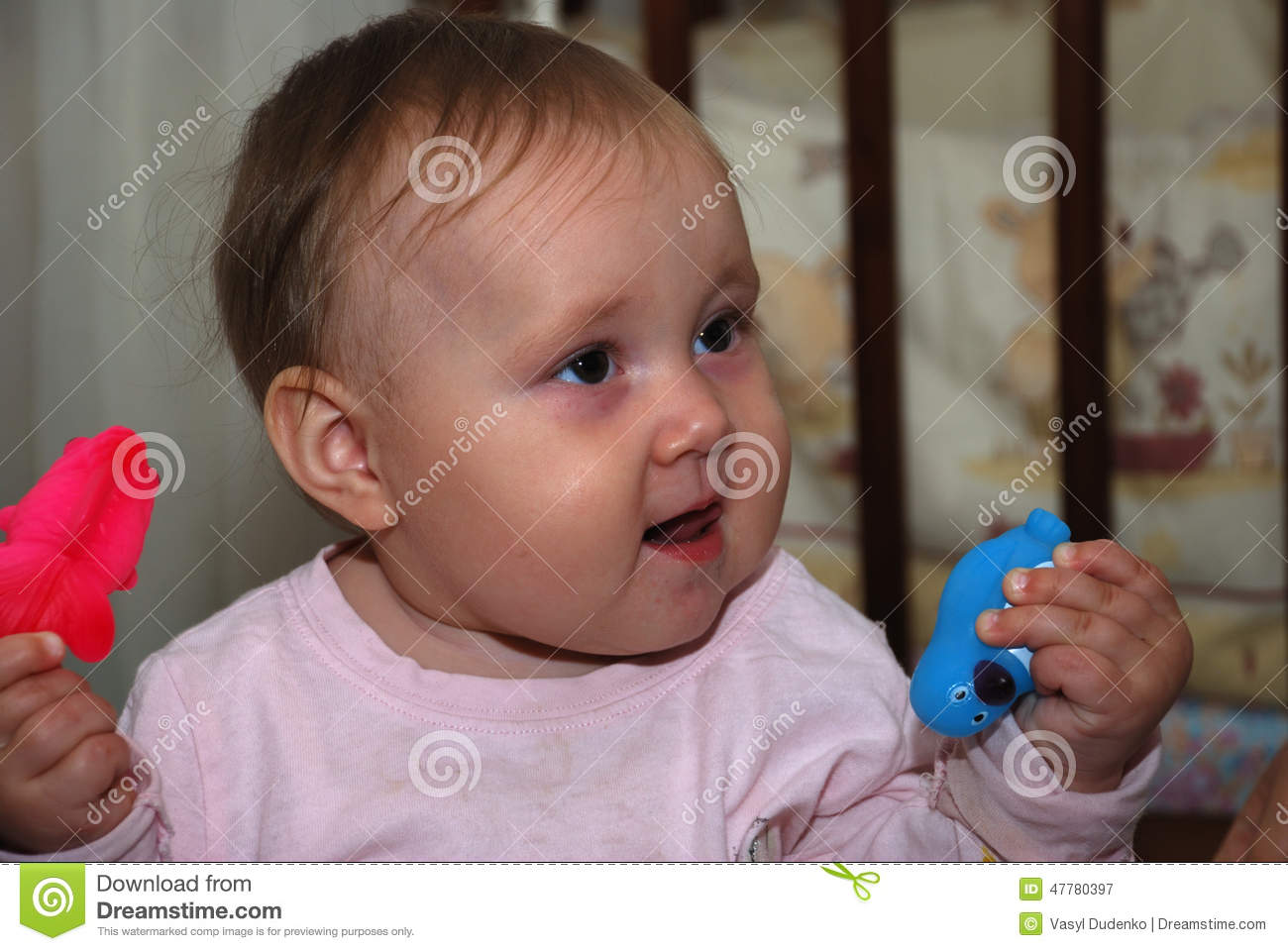 Funny Smiling Baby Stock Photo - Image: 47780397