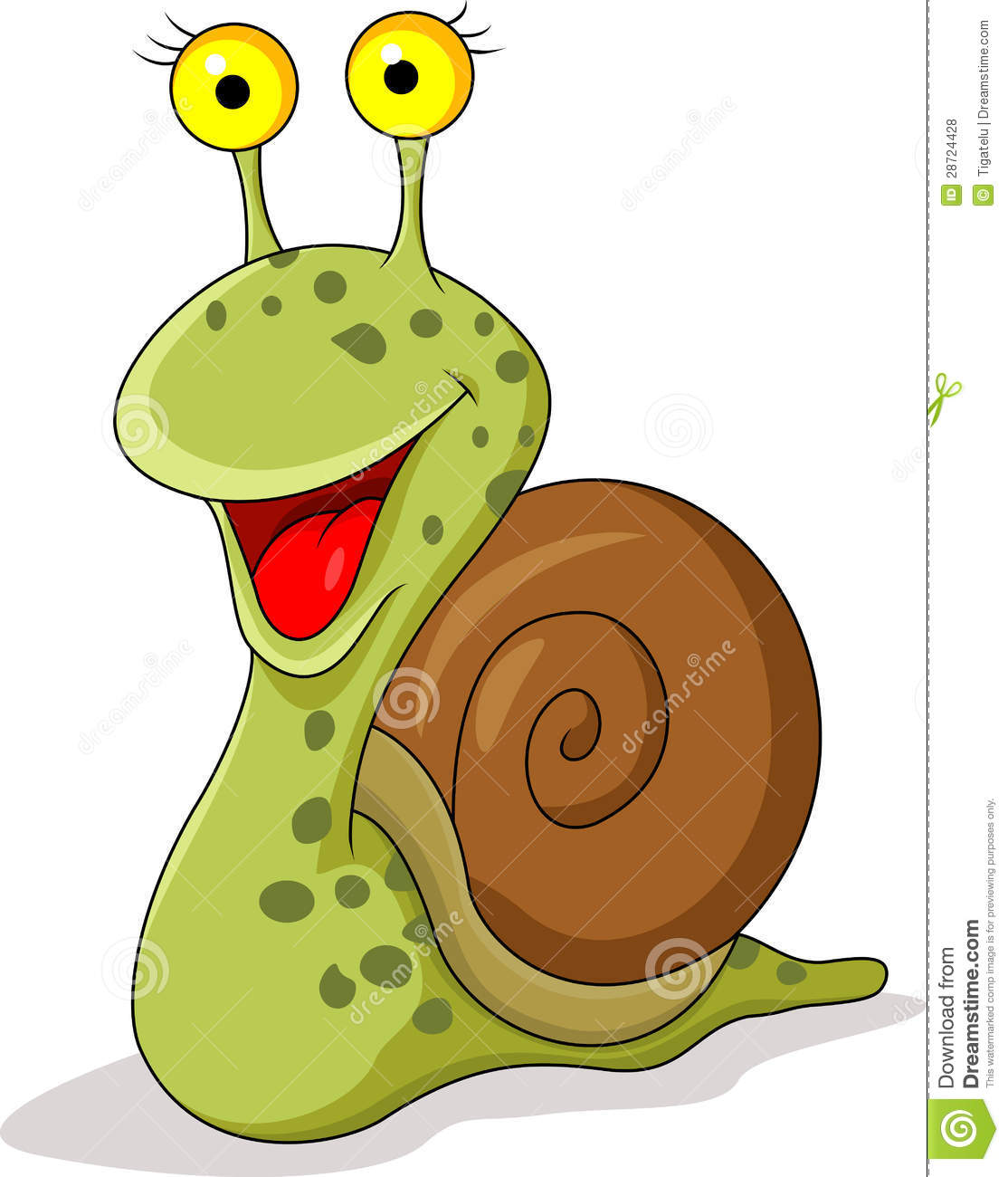 Funny snail cartoon stock vector illustration of clip - Clipart escargot ...