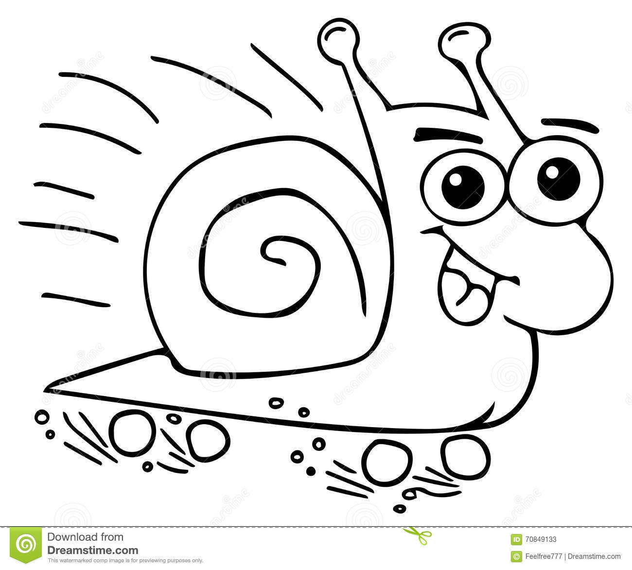 Funny snail coloring pages stock illustration. Illustration of dream ...