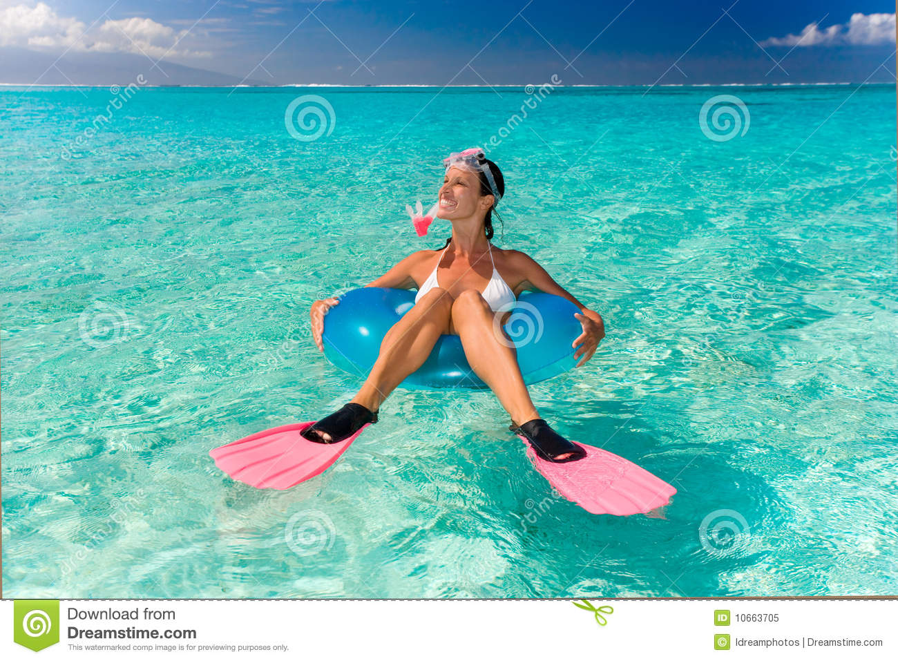 Royalty Free Stock Photo Funny Snorkel Woman